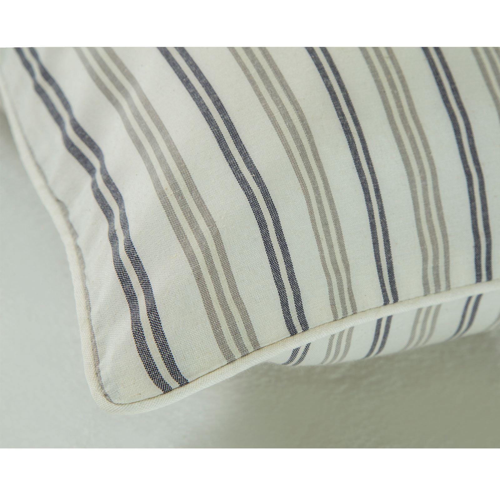 Hilo-de-algodon-de-lujo-Rico-Suave-Chambray-tenido-de-Cubierta-de-edredon-a-rayas-de-tejido-a-rayas miniatura 13