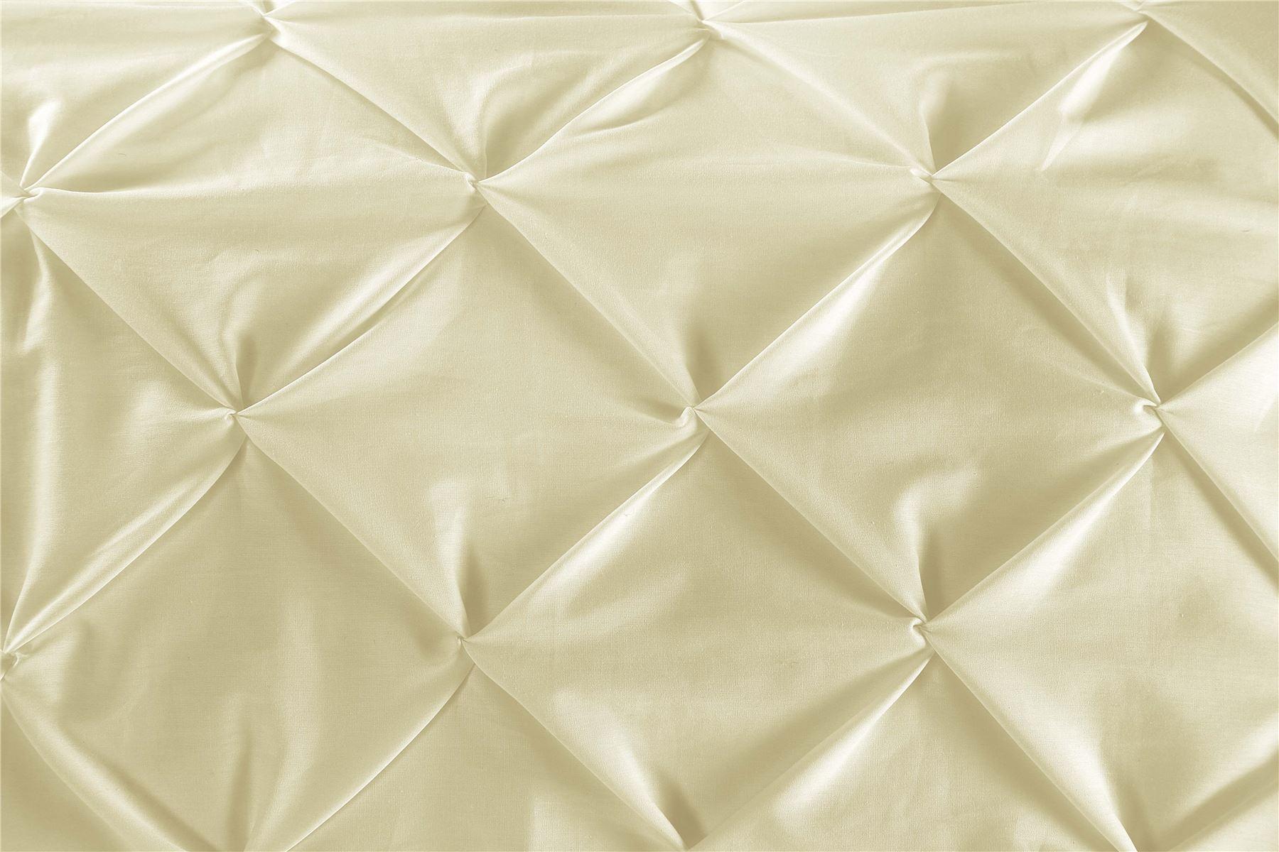 Luxury-Pure-100-Cotton-200-Thread-Pinch-Pleat-Pintuck-Puckering-Duvet-Cover-Set thumbnail 51