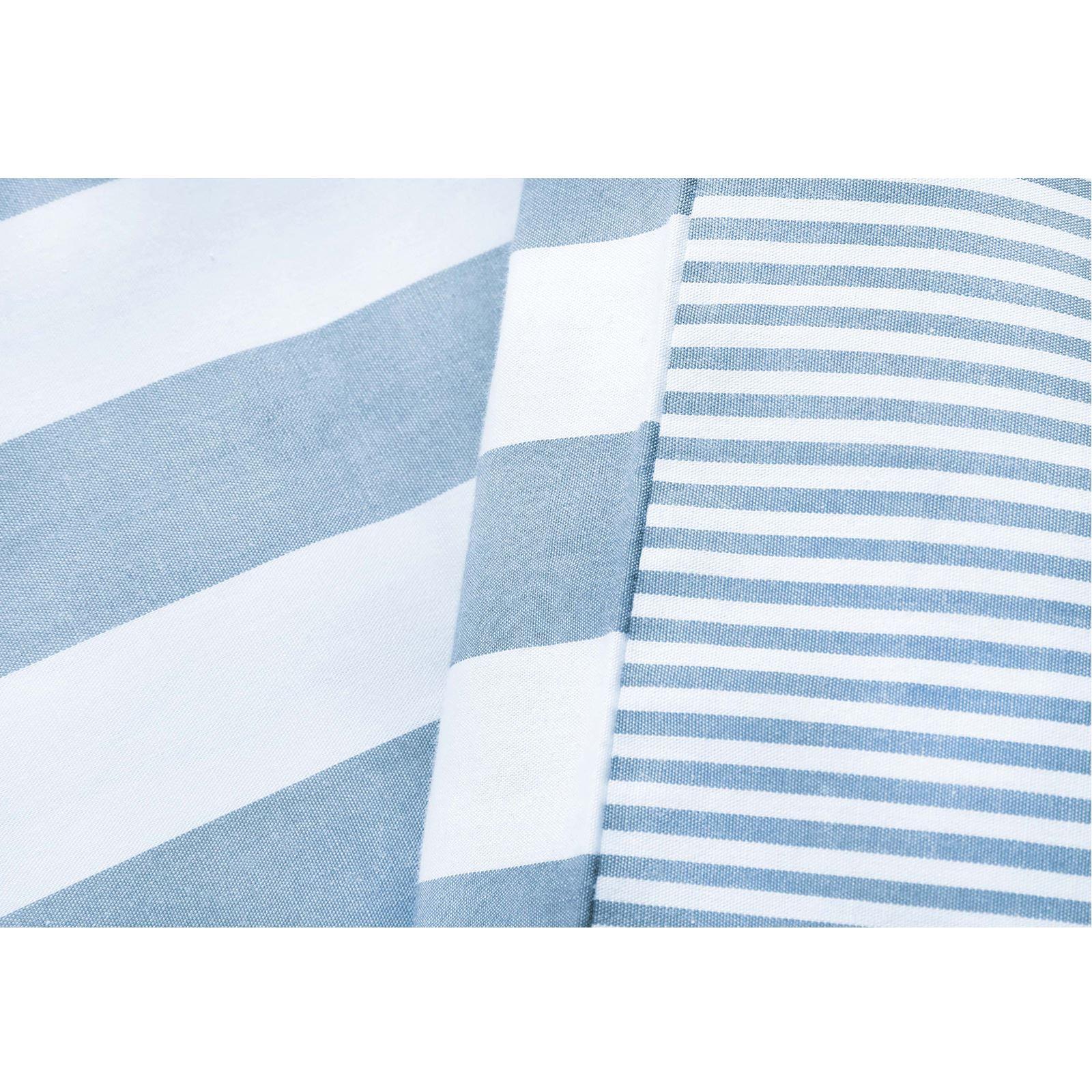 Rayas-Verticales-Tejido-100-algodon-T200-Cubierta-Edredon-Reversible-del-lecho-del miniatura 7