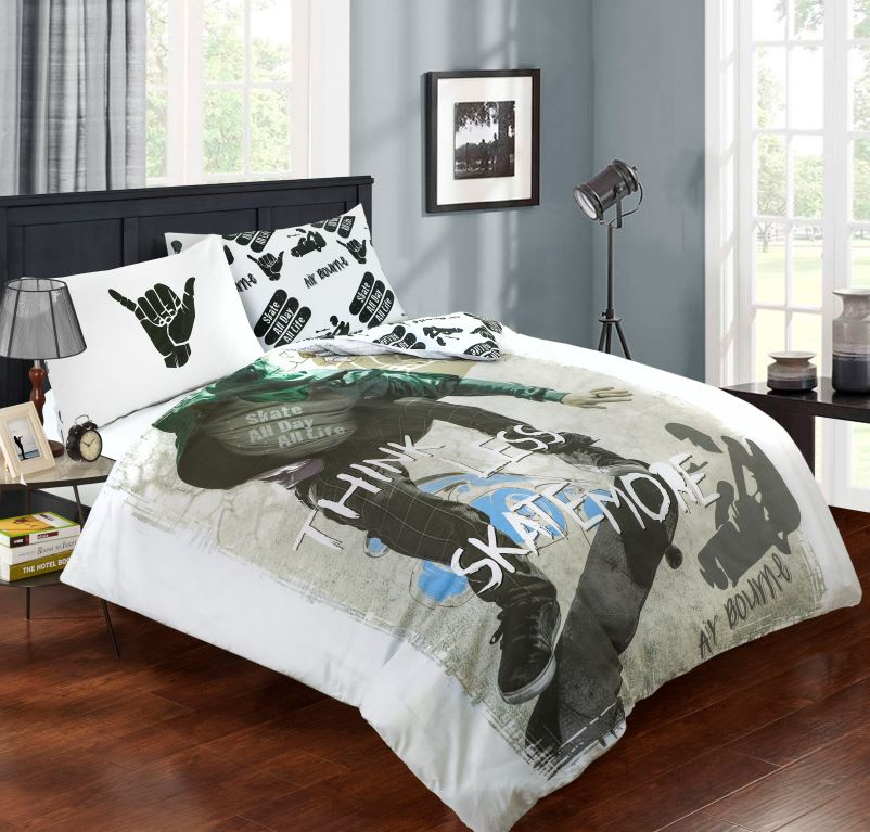 Children-Teenage-Kids-Boys-Girls-Single-Quilt-Duvet-Cover-Pillowcase-Bedding-Set thumbnail 31