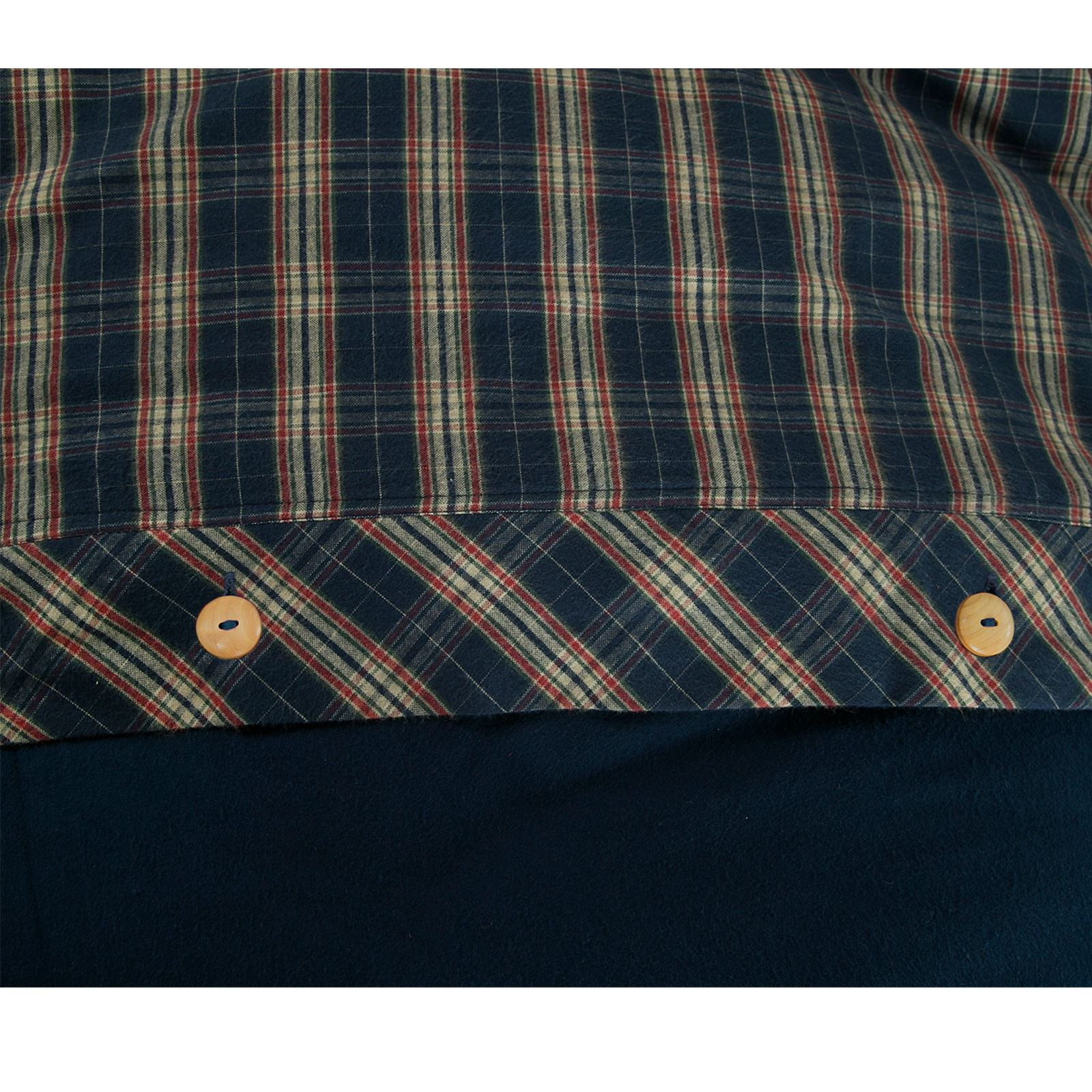 100-algodon-cepillado-de-franela-Funda-De-Edredon-Juego-De-Cama-Individual-Doble-Super-King miniatura 7