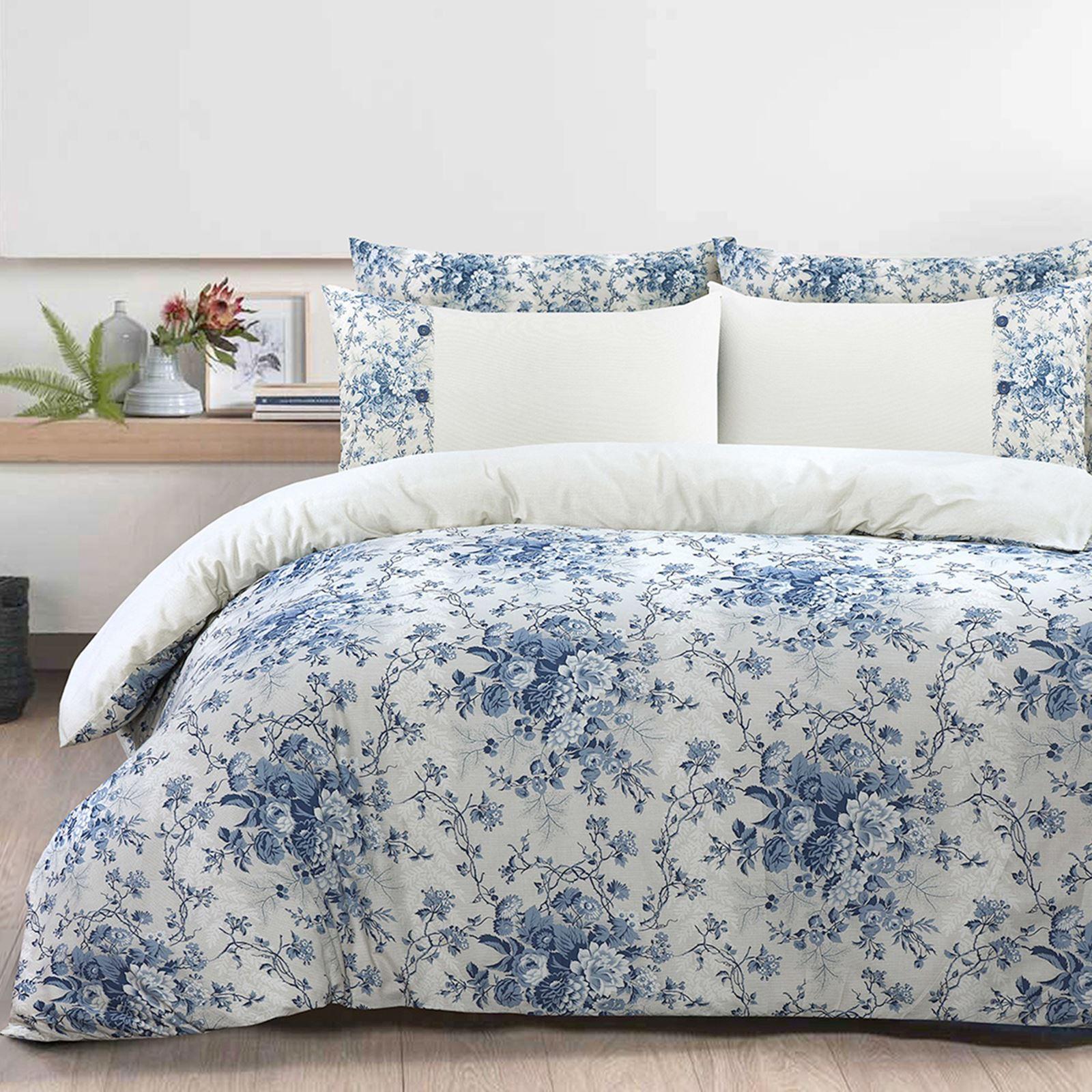 100-Algodon-Cuidado-facil-cubierta-del-edredon-edredon-multicolor-nuevo-conjunto-de-ropa-de-cama miniatura 9