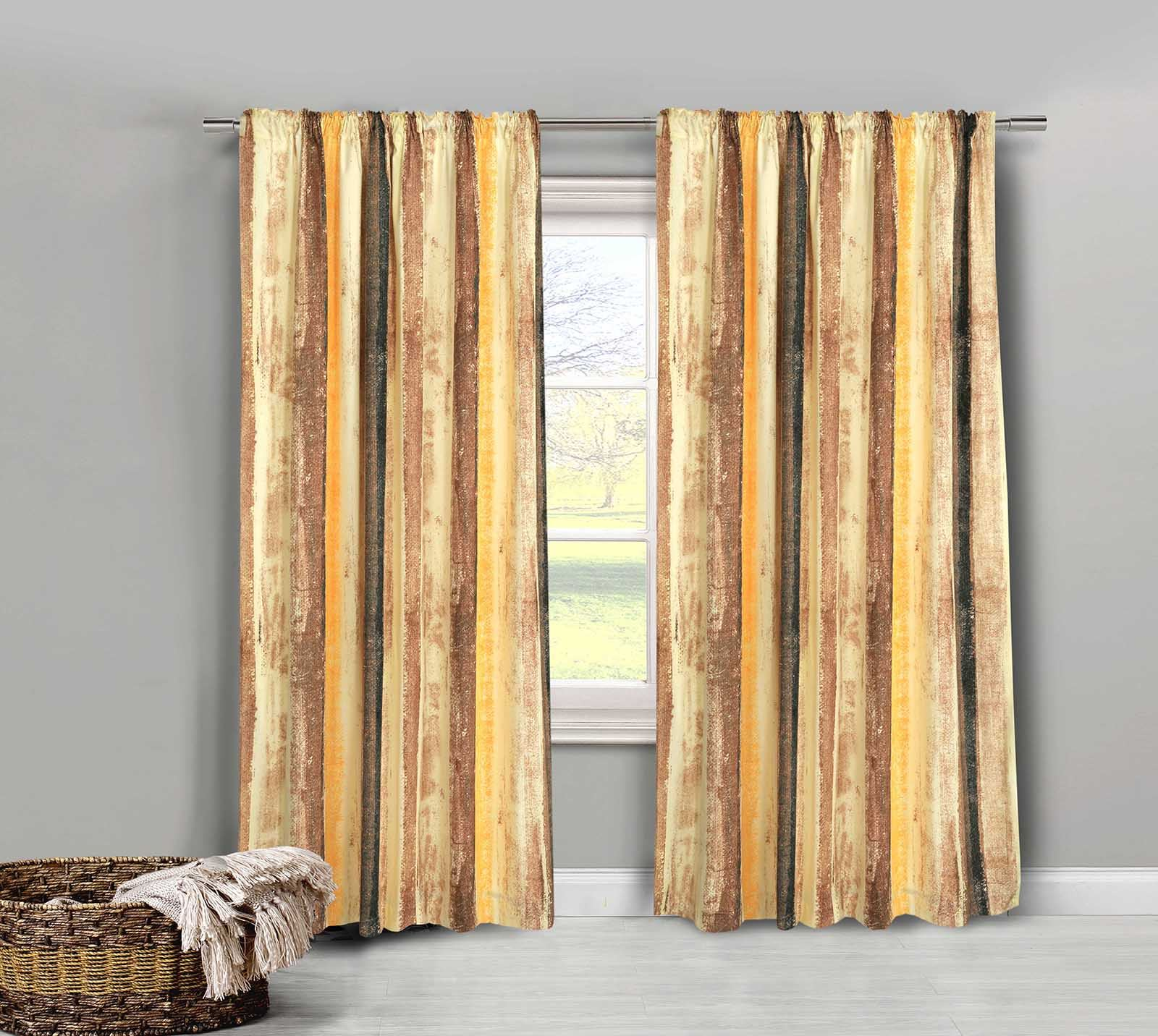 top dupioni grey silk curtain gold grommet curtains product blackout faux striped pair