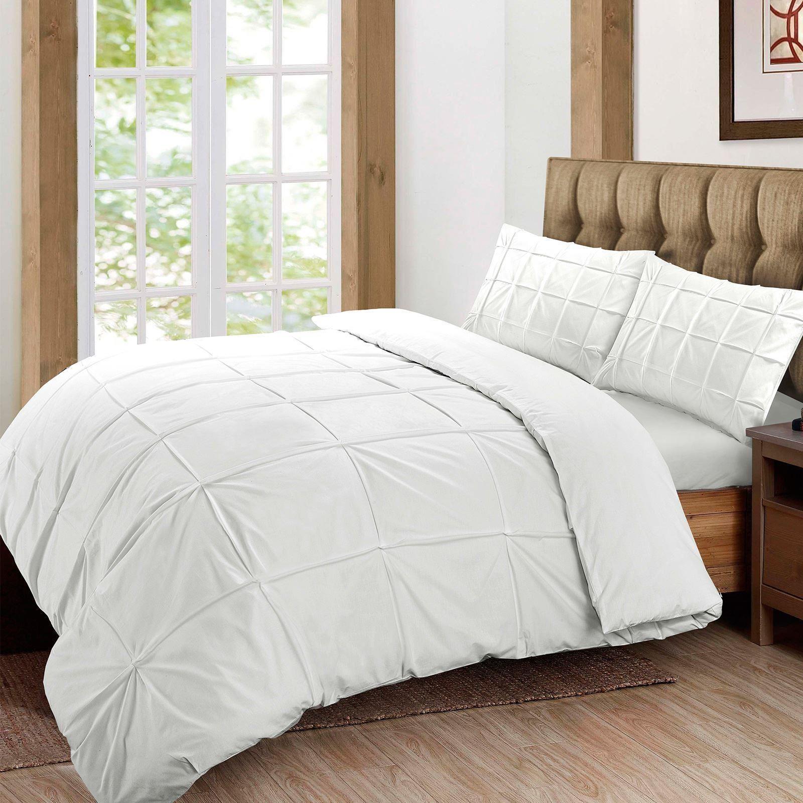 Cartier-Quilt-Duvet-Cover-Bedding-Set-Soft-100-Egyptian-Cotton-Pintuck-Pleated thumbnail 15