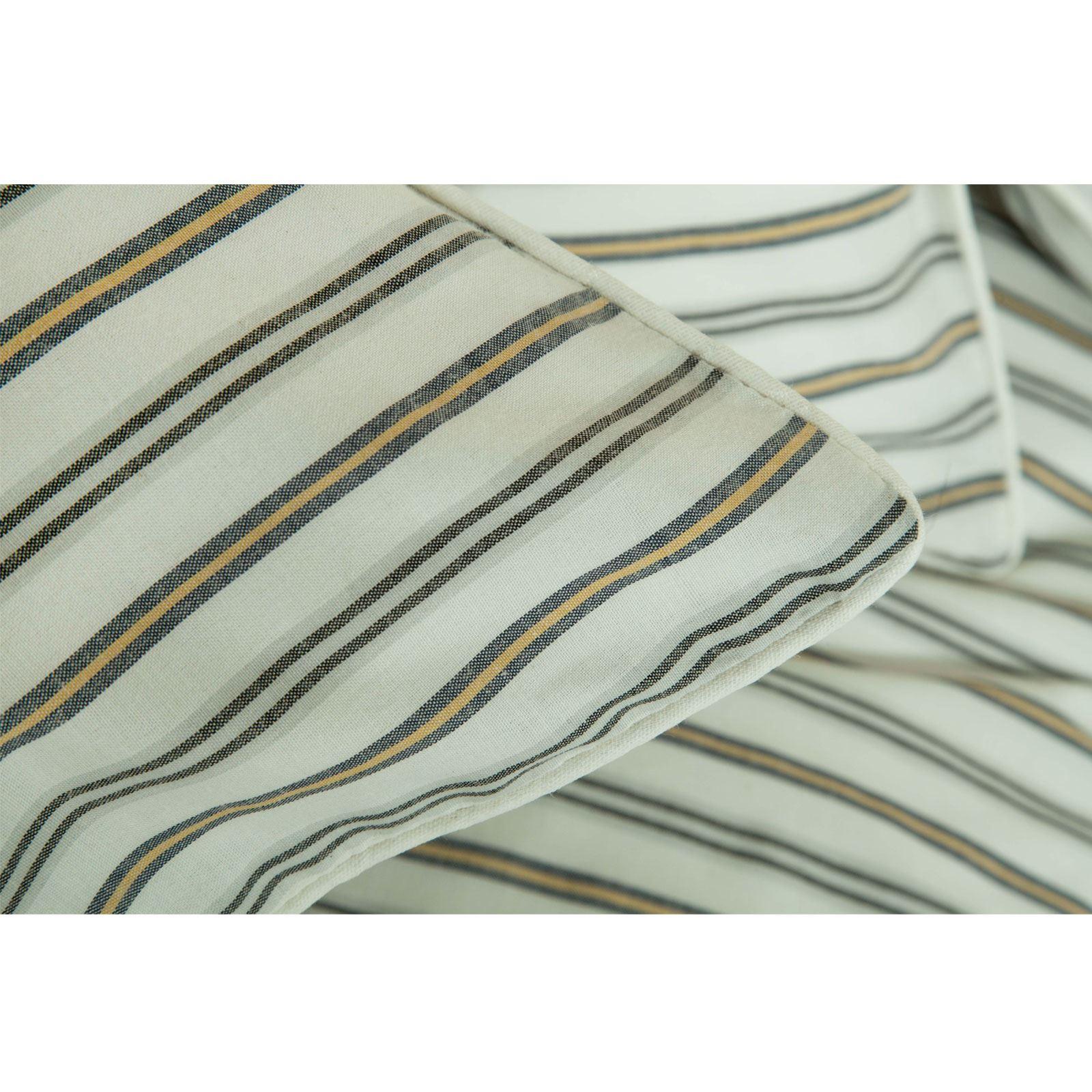 Hilo-de-algodon-de-lujo-Rico-Suave-Chambray-tenido-de-Cubierta-de-edredon-a-rayas-de-tejido-a-rayas miniatura 17