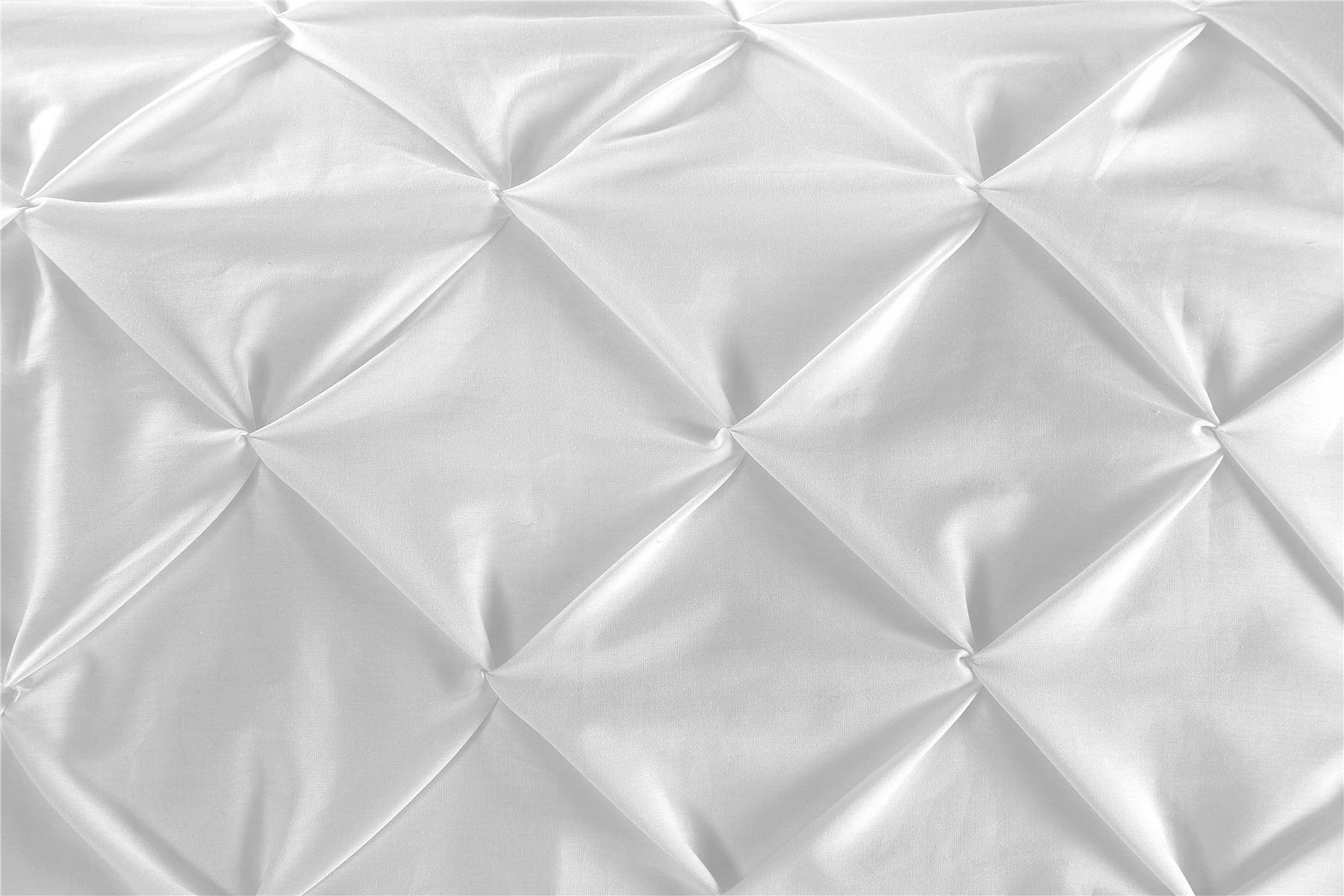 Luxury-Pure-100-Cotton-200-Thread-Pinch-Pleat-Pintuck-Puckering-Duvet-Cover-Set thumbnail 46
