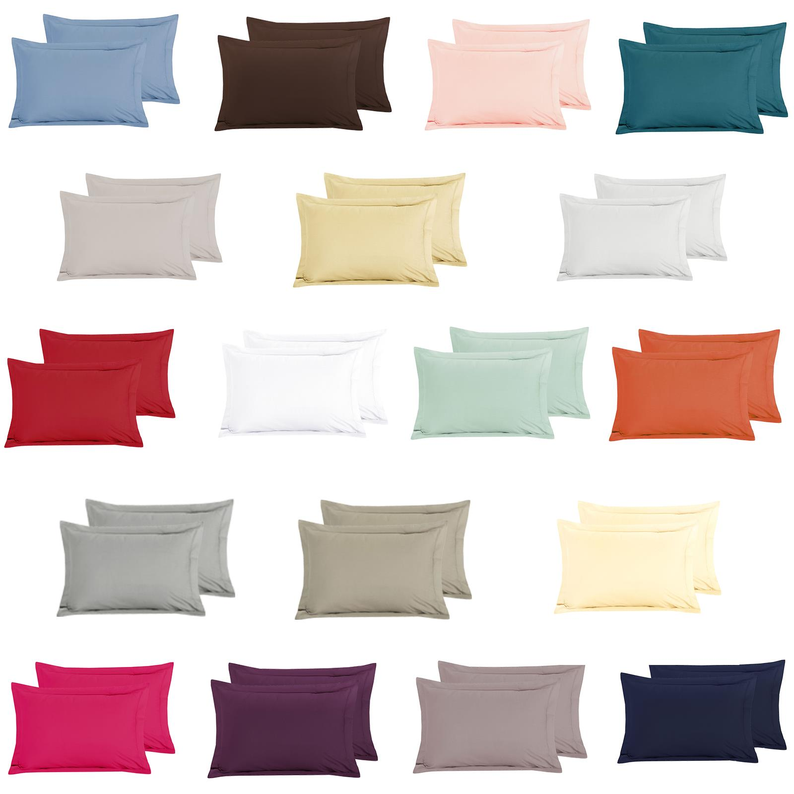 200 Thread Count Egyptian Cotton Pair Oxford Pillow Cases in Duck Egg Blue