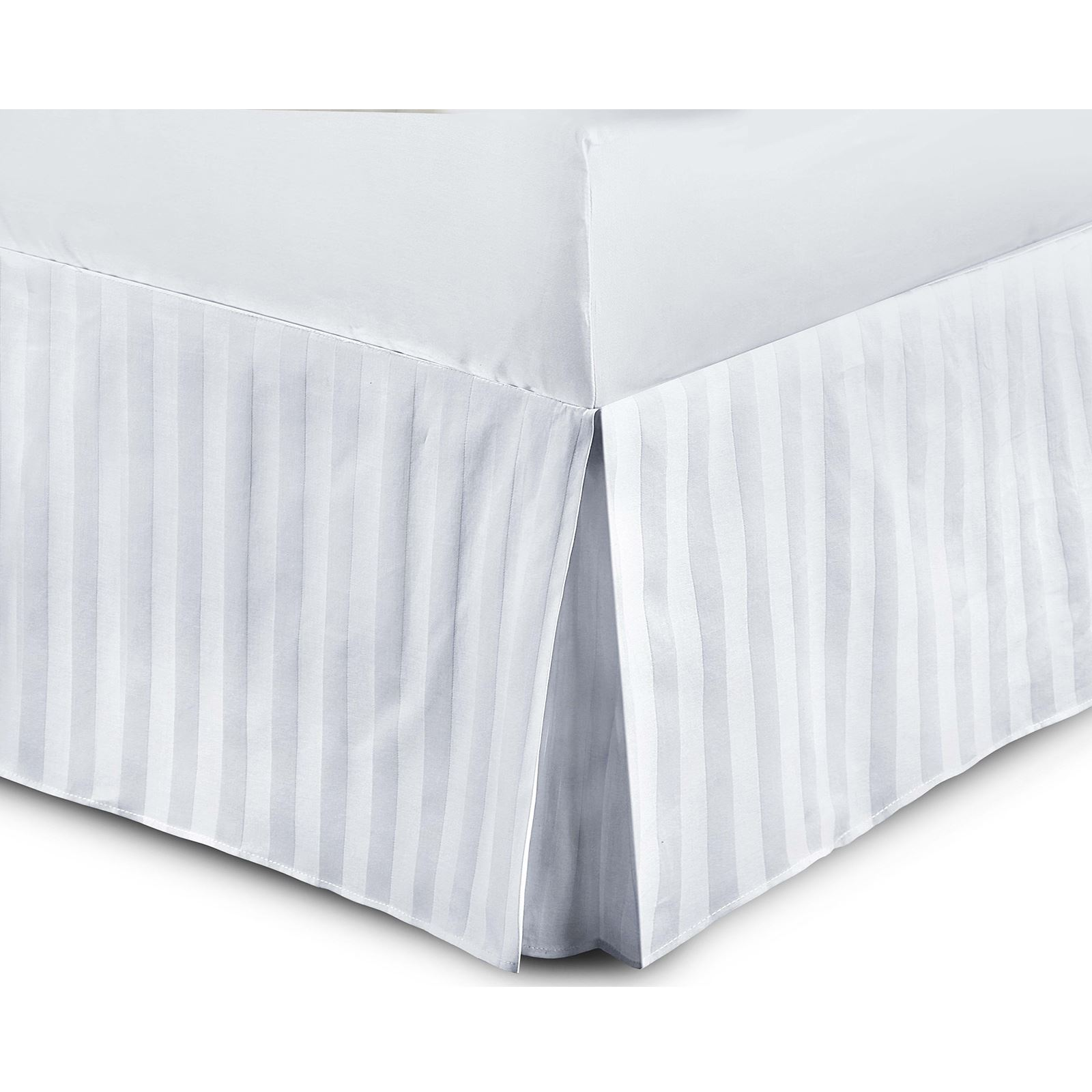 100-algodon-egipcio-de-lujo-a-rayas-Satin-funda-de-edredon-cabido-hoja-plana-Cenefa miniatura 19