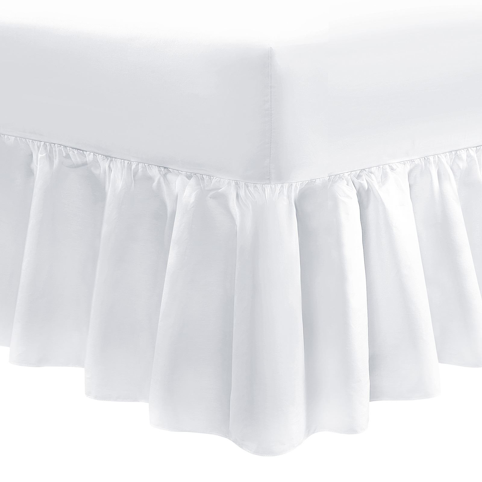 EXTRA DEEP 10 INCH 16 INCH FRILLED VALANCE FITTED SHEET KING FREE POST