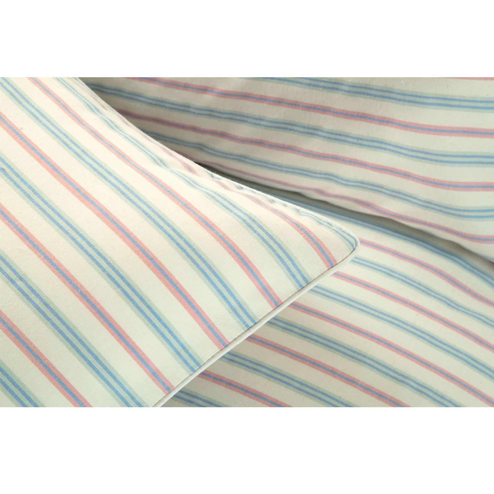Hilo-de-algodon-de-lujo-Rico-Suave-Chambray-tenido-de-Cubierta-de-edredon-a-rayas-de-tejido-a-rayas miniatura 4