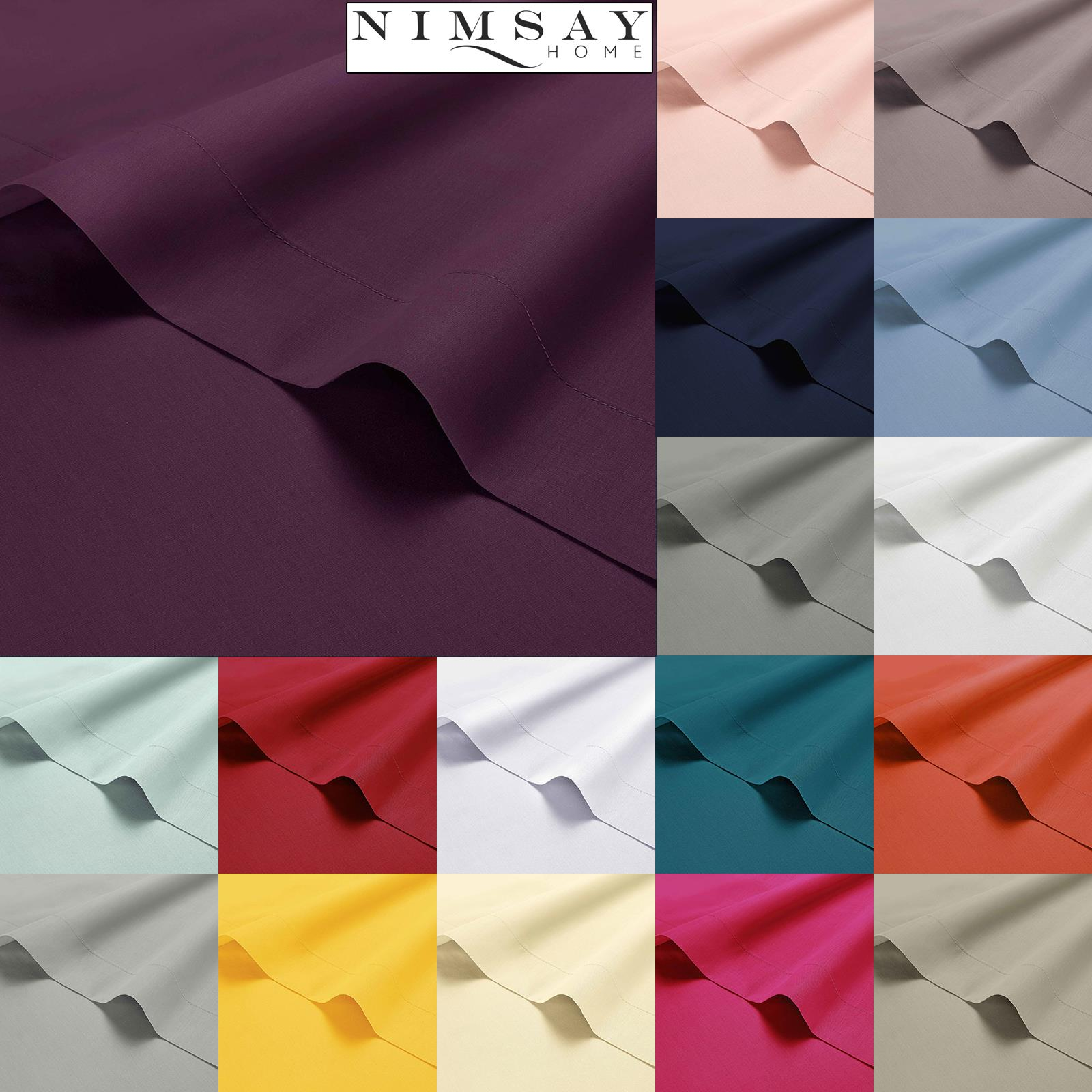 LUXURY 100/% EGYPTIAN COTTON FLAT SINGLE DOUBLE KING SUPER KING PERCALE SHEETS!