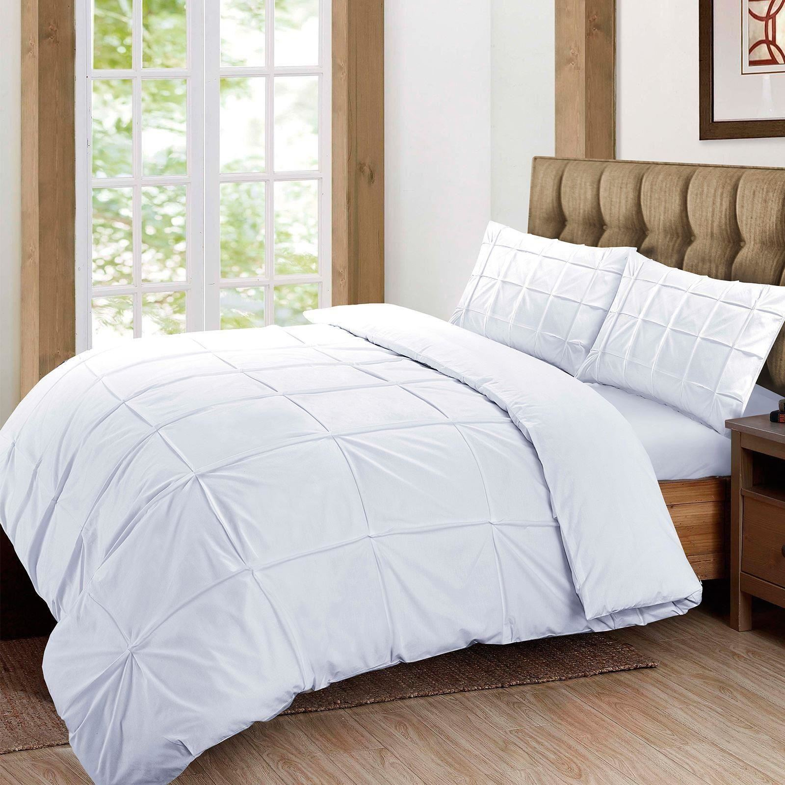 100-Algodon-Egipcio-Cubierta-Del-Edredon-Edredon-Juego-Individual-Doble-King-Size-Bed-Sabanas miniatura 15