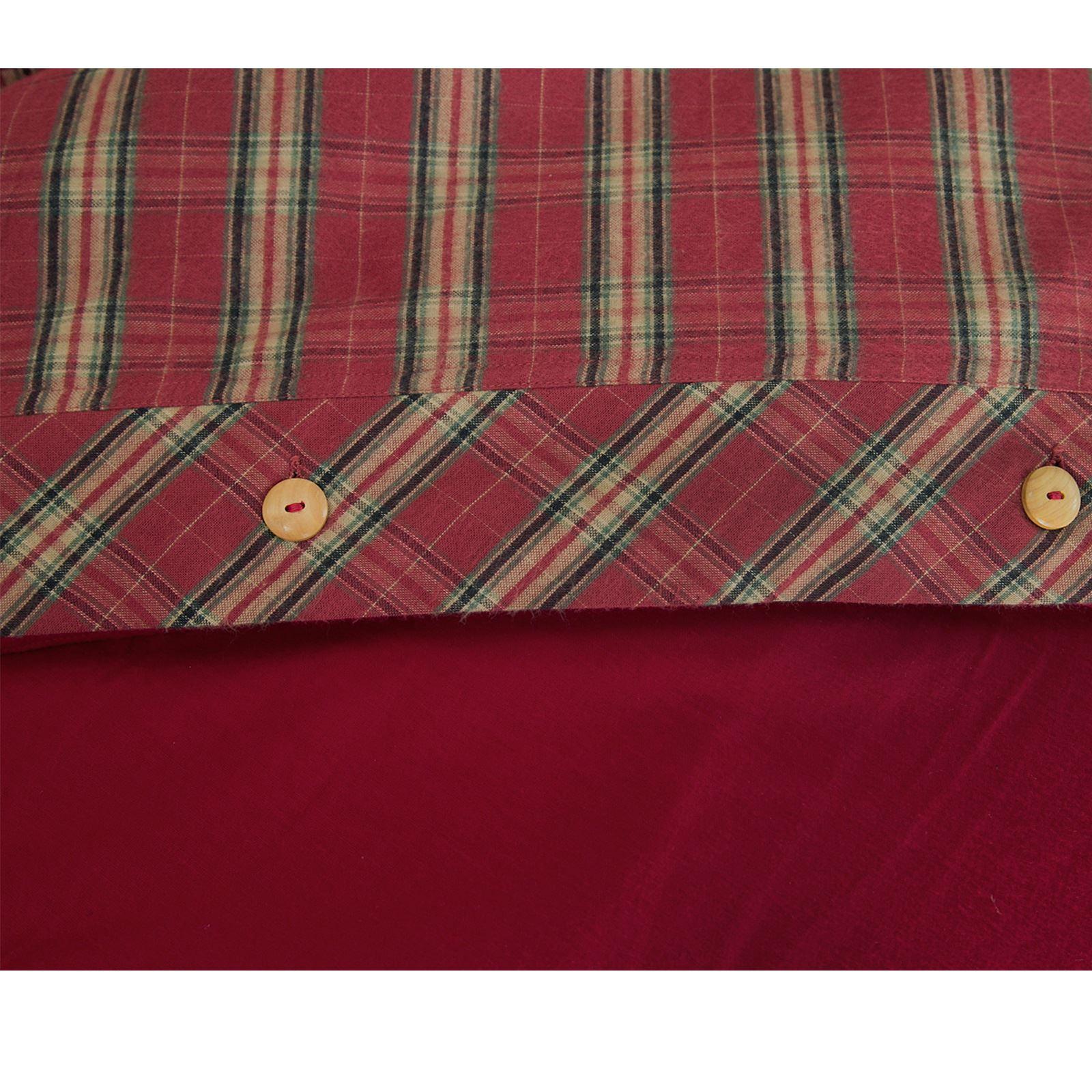 Highland-100-Algodon-Cuadros-Funda-De-Edredon-Funda-De-Almohada-Cama-Individual-Doble-King miniatura 15