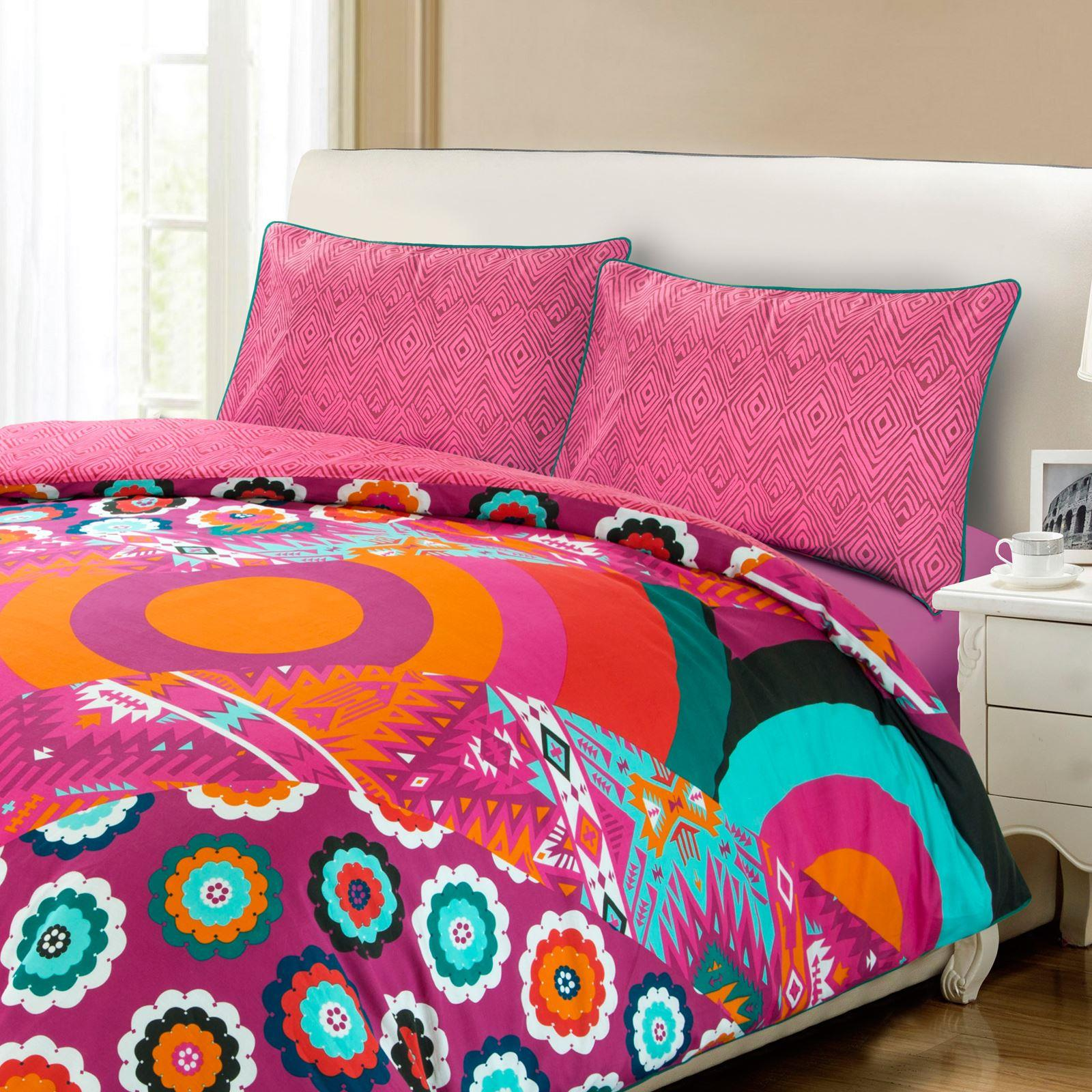 Copripiumino Re Sole.Floral Geometric Duvet Quilt Cover Bohemian Bedding Set Single