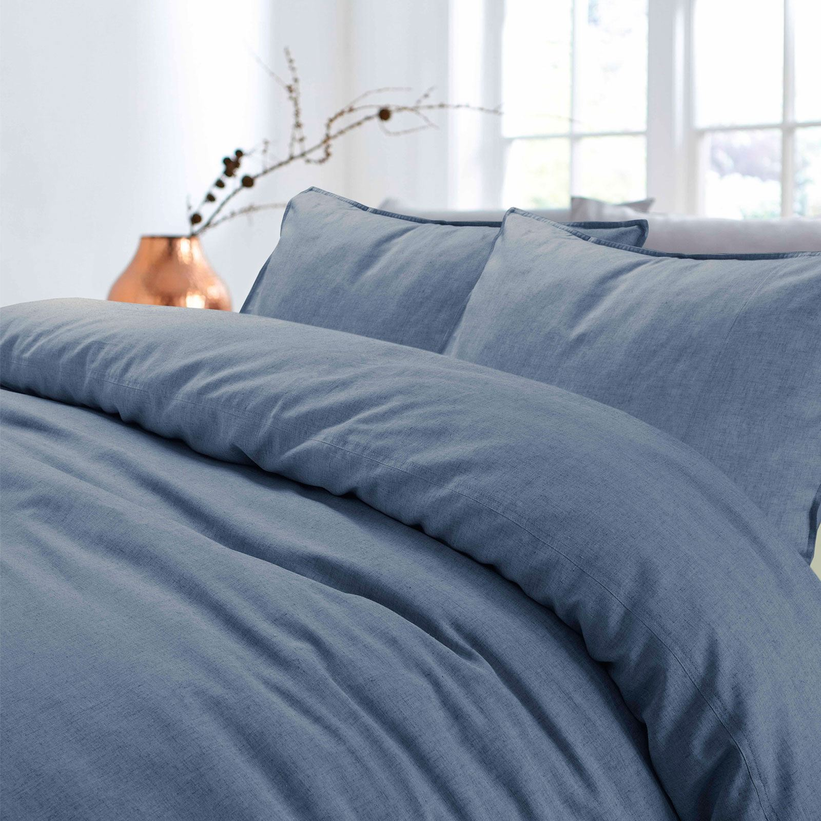 100-Cotton-Linen-Pure-Natural-Duvet-Cover-Bedding-Set-Double-King-Single thumbnail 10