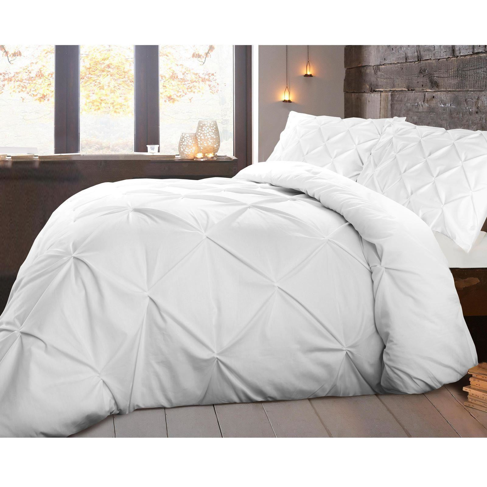 pleat puckering pintuck pinched set shabby duvet chic luxury red pinch cover cottage bedding
