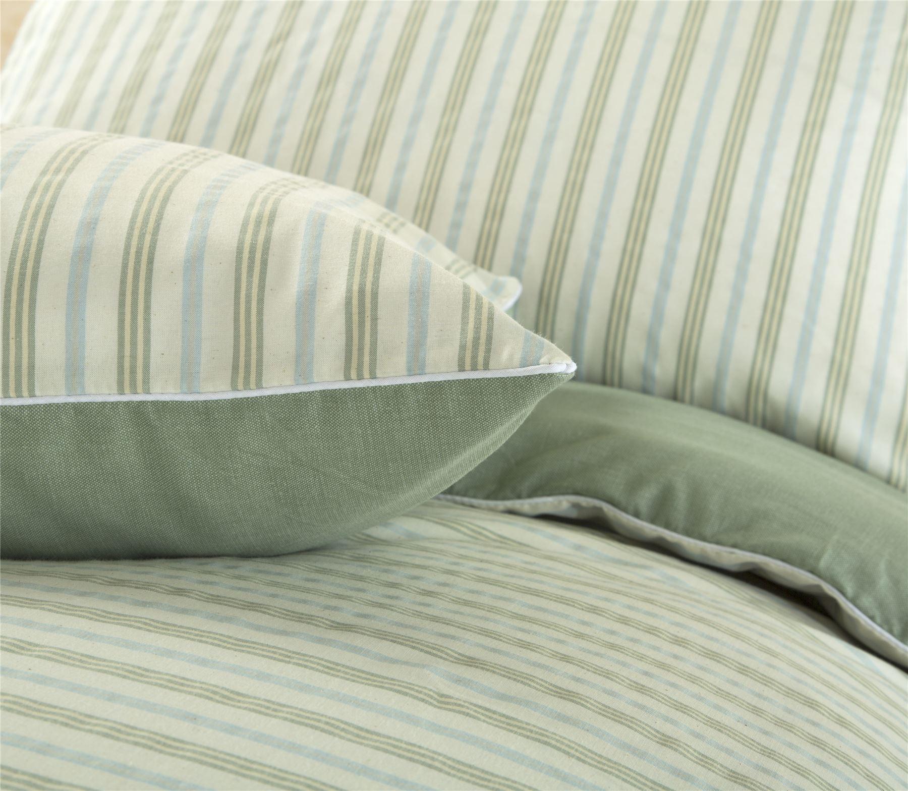 P14 Woven Striped T144 Cotton Blend Quilt Duvet Cover Single Double Super King