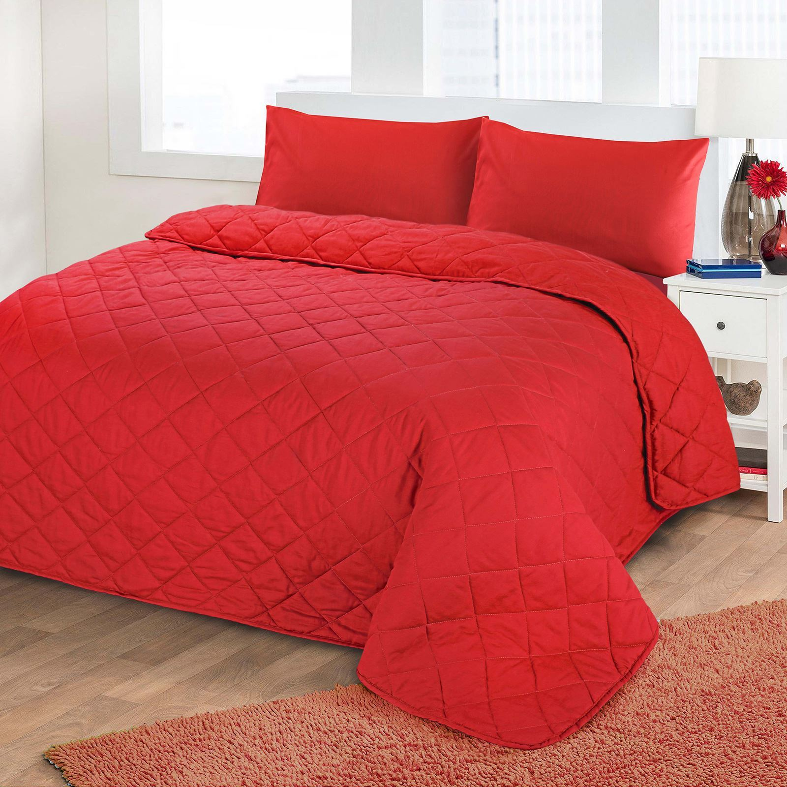Luxury Quilted Bedspreads Super King Bed