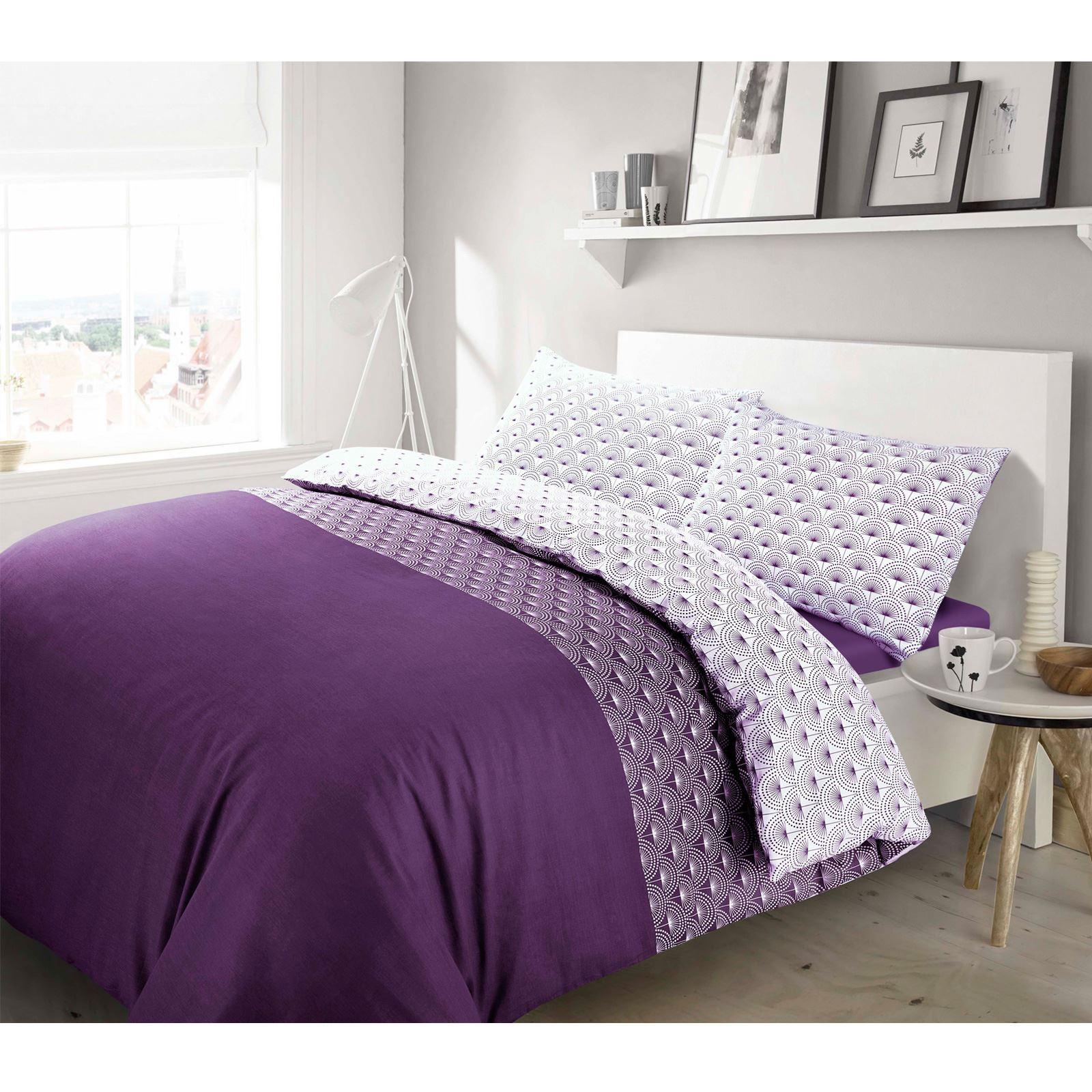 Floral Dandelion 100 Cotton Purple Duvet Cover Bedding Set Single