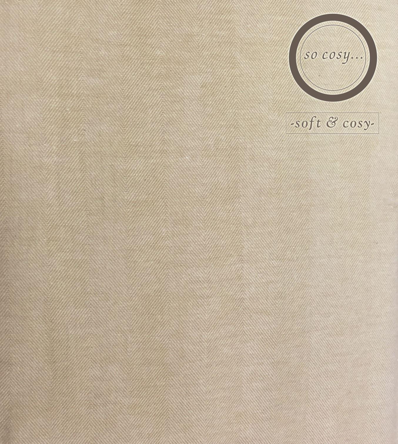 Herringbone-Woven-100-Cotton-Flannel-Duvet-Cover-Bedding-Set-Single-Double-King thumbnail 9