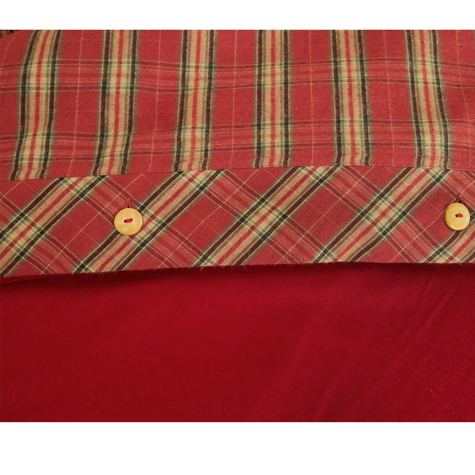 Highland-Tartan-Cuadros-Tejido-De-Algodon-Cepillado-Termico-flanelita-duvet-cover-set miniatura 9