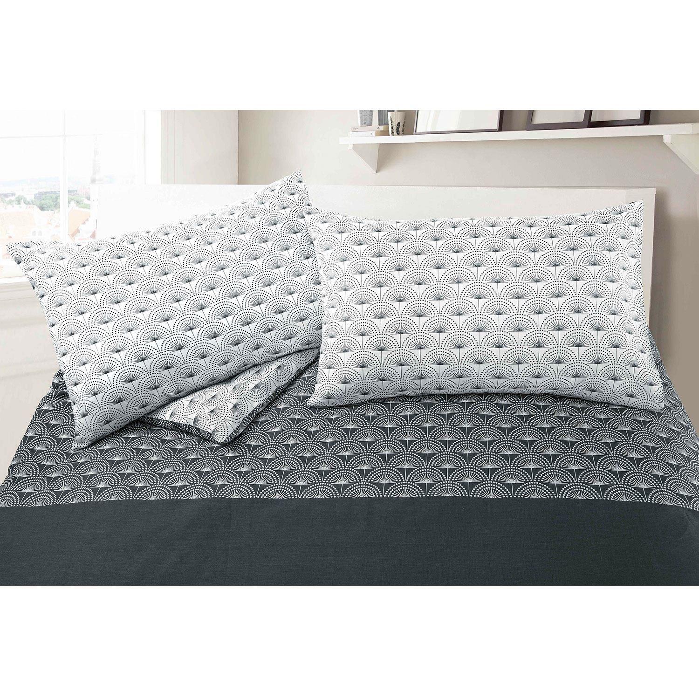 Paloma Grey Floral 100% Cotton Quilt Duvet Cover Bed Linen Set