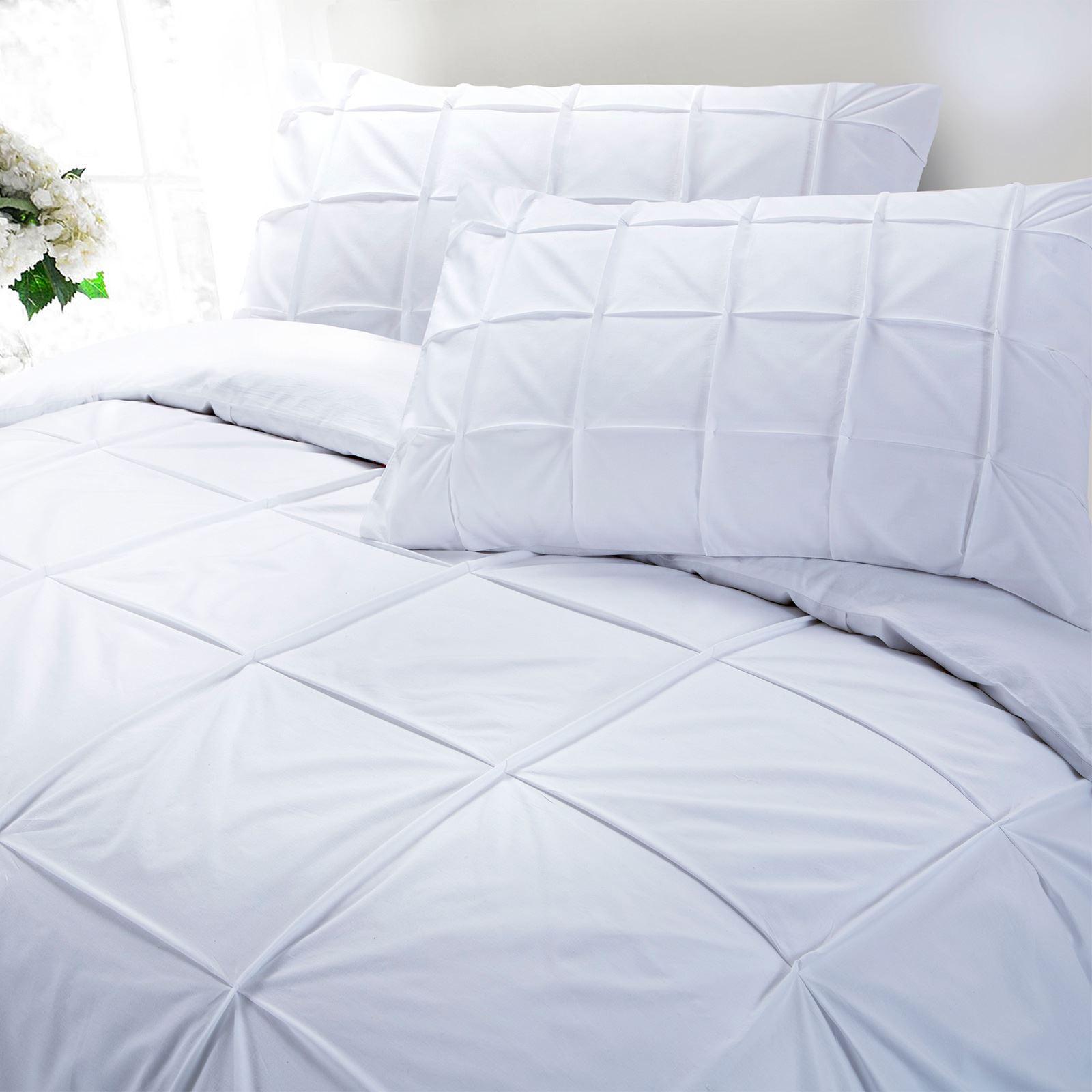 100-Coton-Egyptien-de-couette-couette-Set-Simple-Double-King-Size-Bed-sheets miniature 3