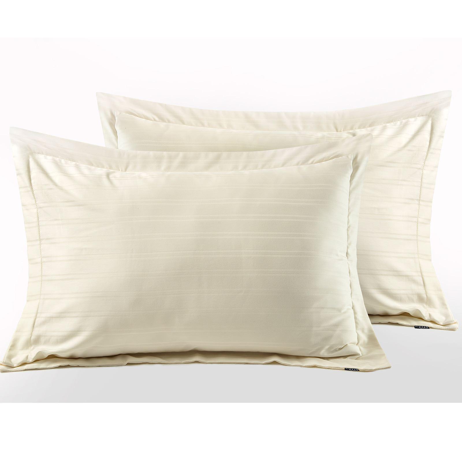 Hotel-Quality-400-Thread-100-Cotton-Satin-Sateen-Stripe-Duvet-Cover-Bedding-Set thumbnail 5