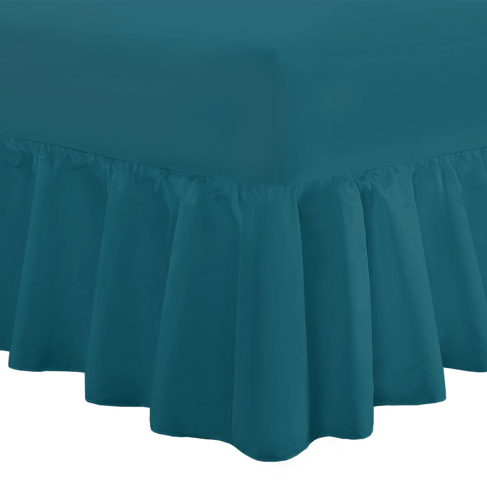 """SUPER KING SIZE FITTED VALANCE SHEET 6/' x 6/' 6/"""" 16/"""" Frilled Over Mattress"""
