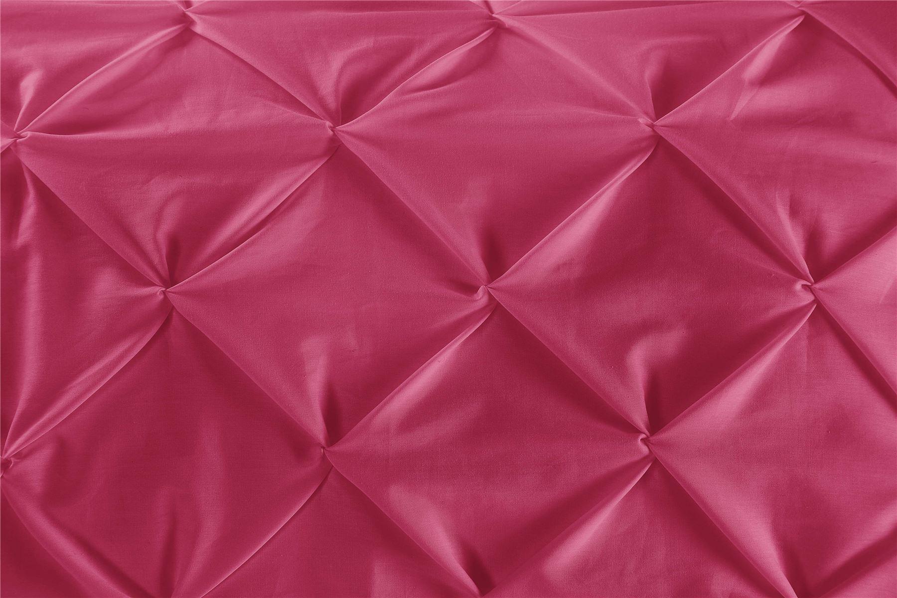 Luxury-Pure-100-Cotton-200-Thread-Pinch-Pleat-Pintuck-Puckering-Duvet-Cover-Set thumbnail 36