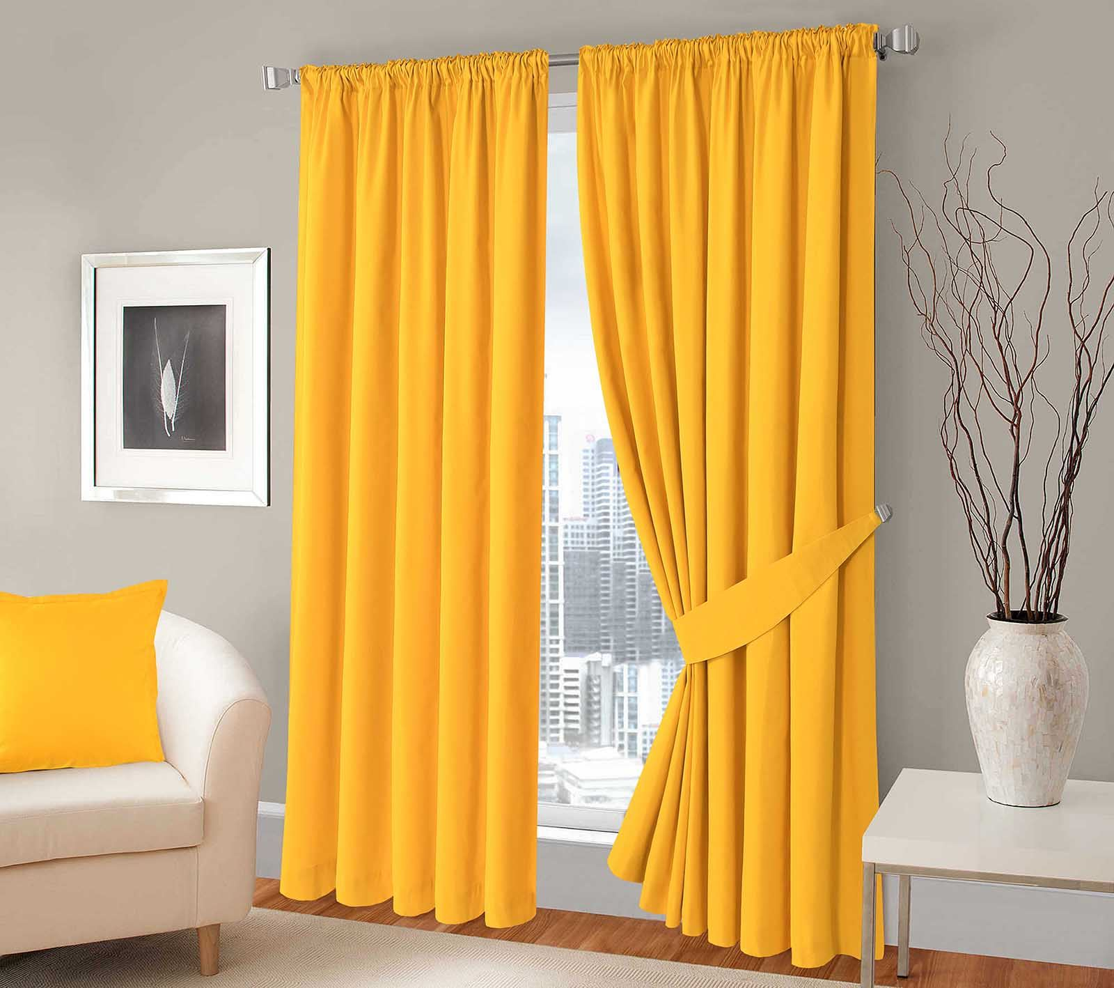 100 Blackout 3 Pass Curtains Thermal Solar Lining Pair