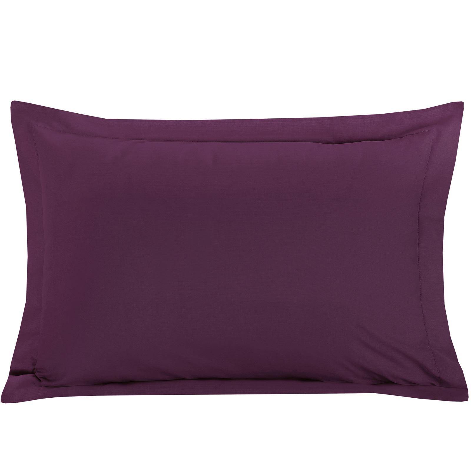 Luxury-100-Egyptian-Cotton-200-Thread-Percale-Plain-Pillowcases-Pillow-Case-Pair thumbnail 17