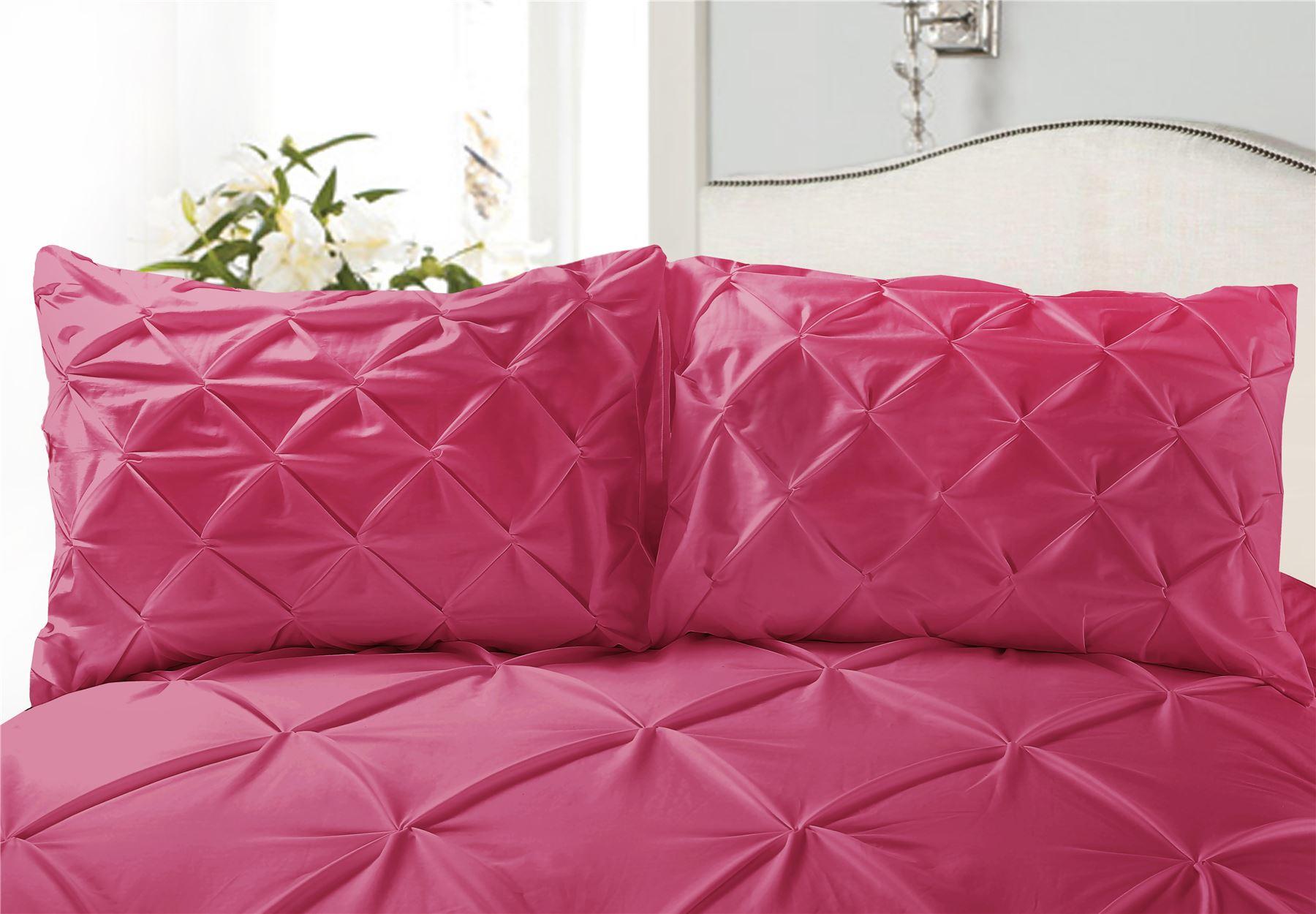 Luxury-Pure-100-Cotton-200-Thread-Pinch-Pleat-Pintuck-Puckering-Duvet-Cover-Set thumbnail 34