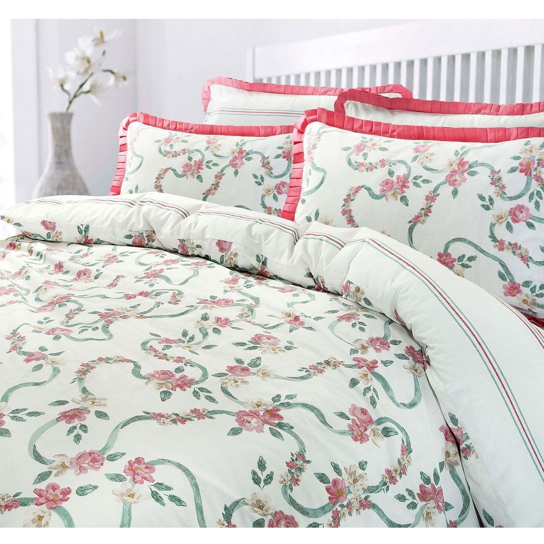 Volantes-Floral-Rosa-Volante-Edredon-Duvet-cover-set-solo-Doble-Super-Rey-Ropa-De-Cama miniatura 5
