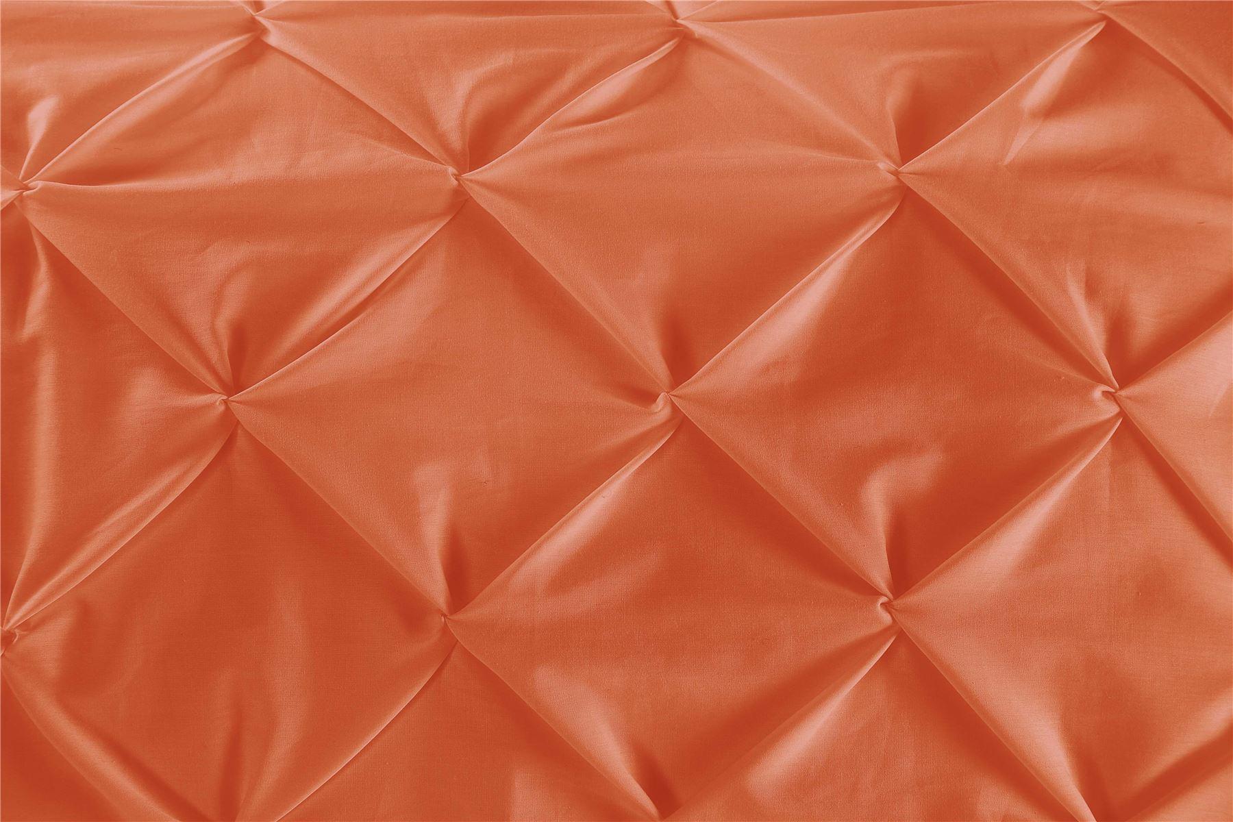 Luxury-Pure-100-Cotton-200-Thread-Pinch-Pleat-Pintuck-Puckering-Duvet-Cover-Set thumbnail 26