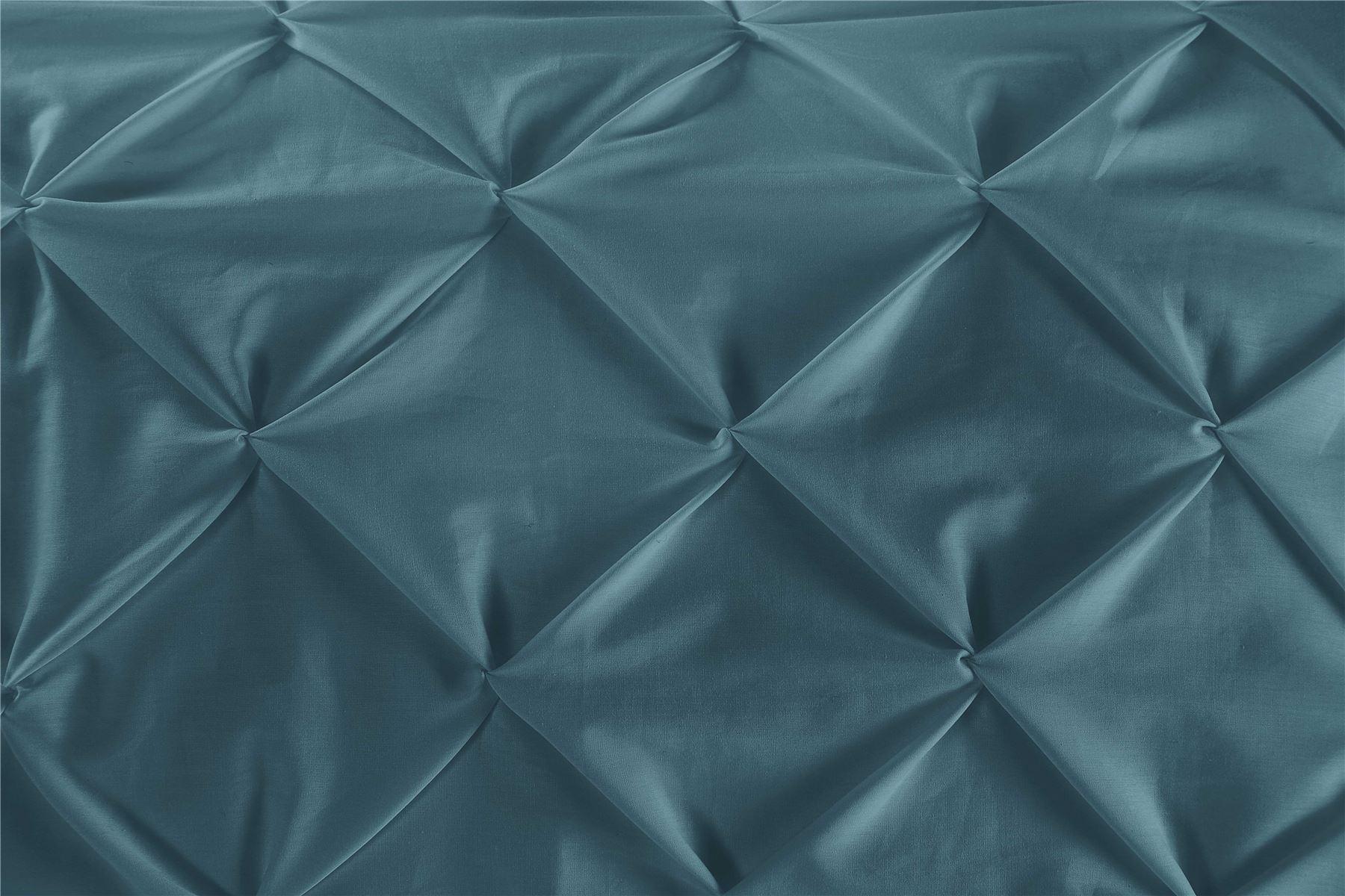 Luxury-Pure-100-Cotton-200-Thread-Pinch-Pleat-Pintuck-Puckering-Duvet-Cover-Set thumbnail 61