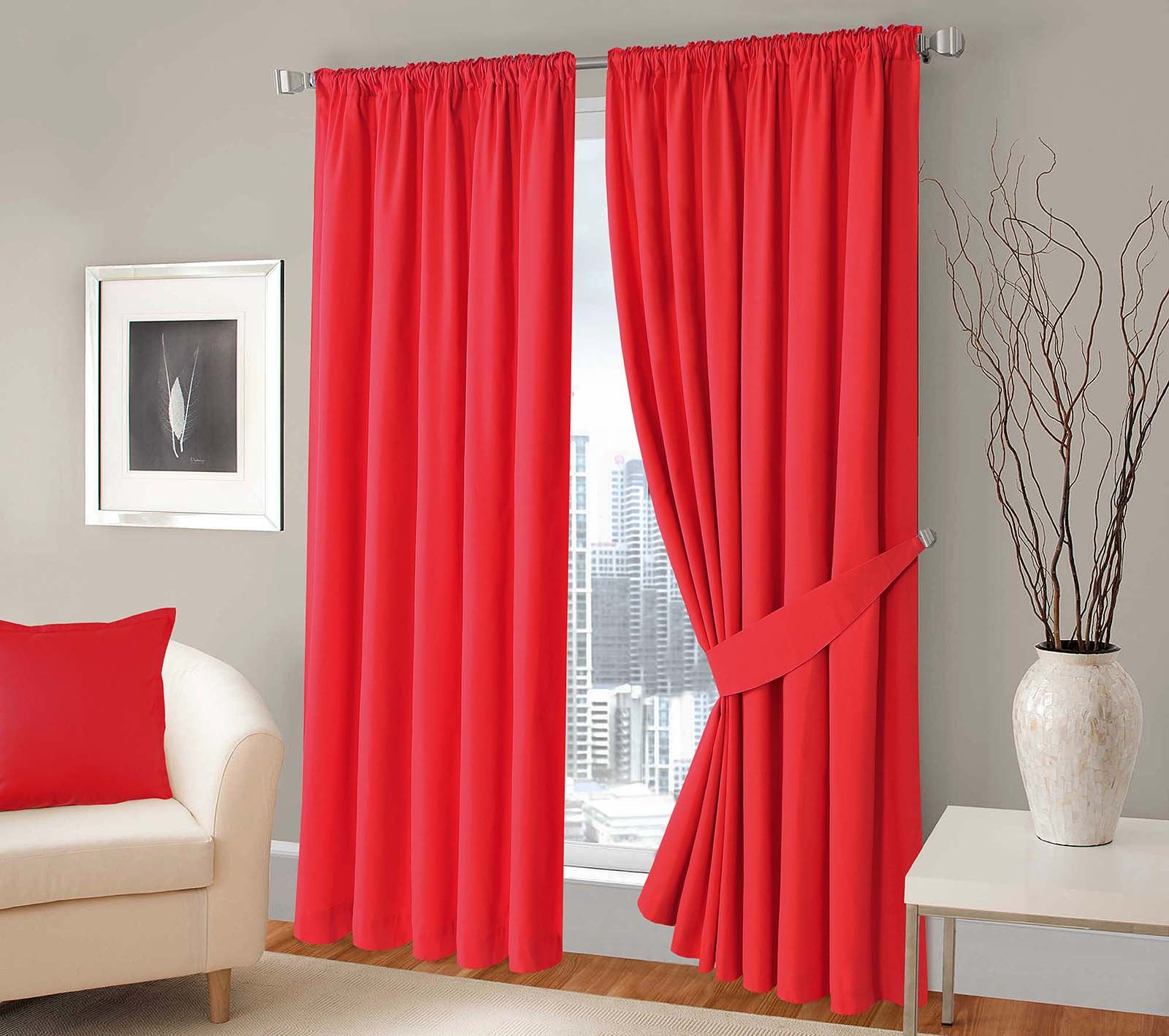 100 Cotton Panama Twill Curtains Fully Lined Ready