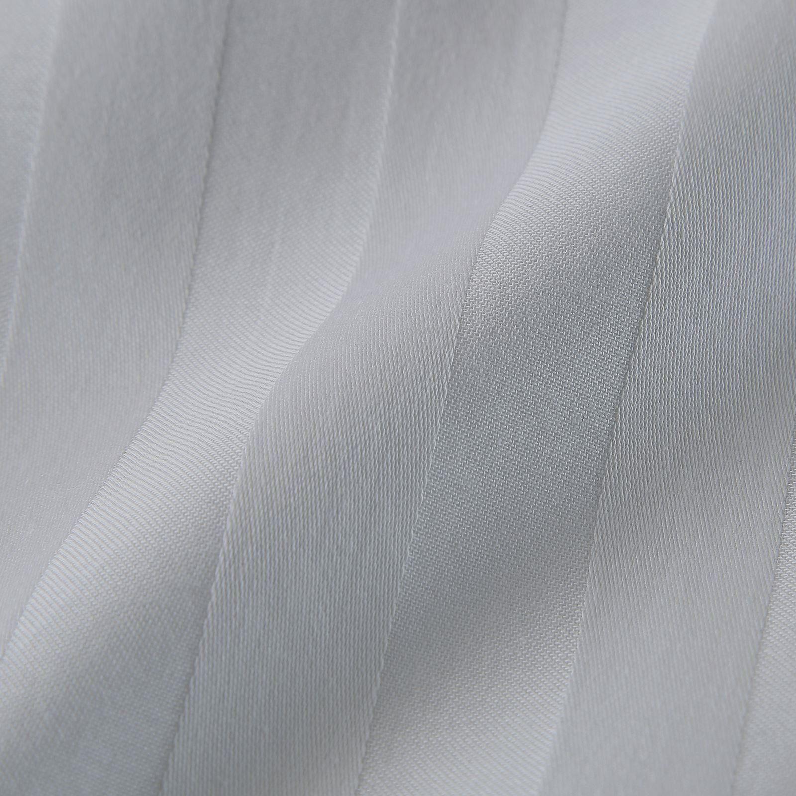 Tacto-suave-100-Algodon-Egipcio-Saten-Raya-Edredon-Edredon-Cubierta-Juego-de-cama-de-saten miniatura 6