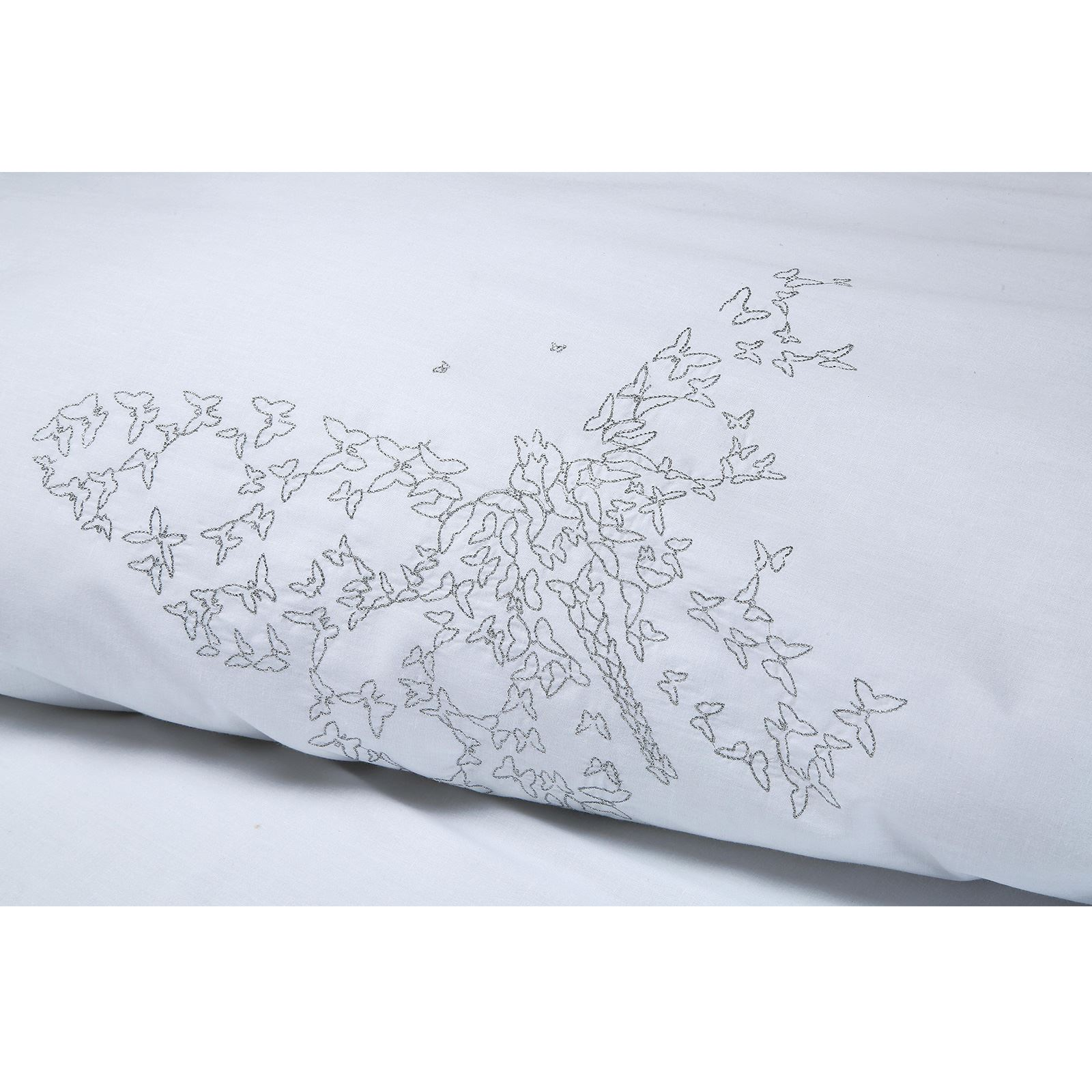 Chloe-Luxury-100-Cotton-Silver-Embroidery-Embroidered-Duvet-Cover-Bedding-Set thumbnail 9
