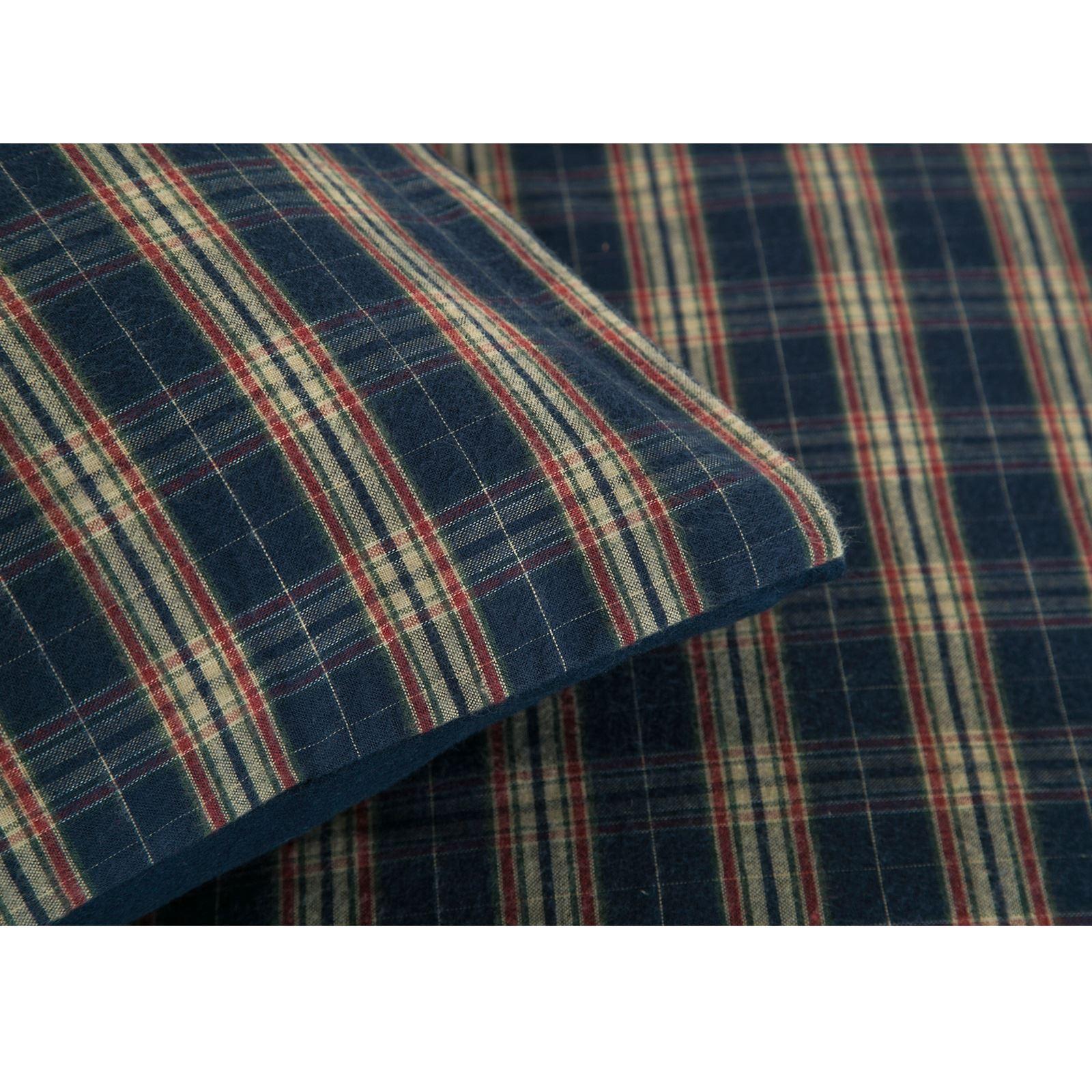 Highland-100-Algodon-Cuadros-Funda-De-Edredon-Funda-De-Almohada-Cama-Individual-Doble-King miniatura 8