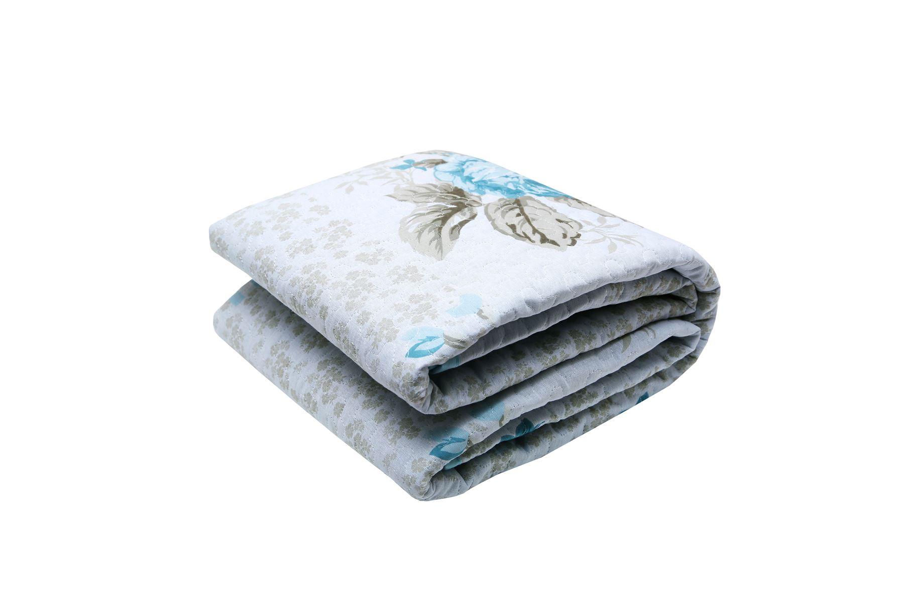 Nuevo-Floral-Rosa-Acolchado-Colcha-100-Algodon-Cobertor-Edredon-En-Relieve-Doble-King miniatura 5