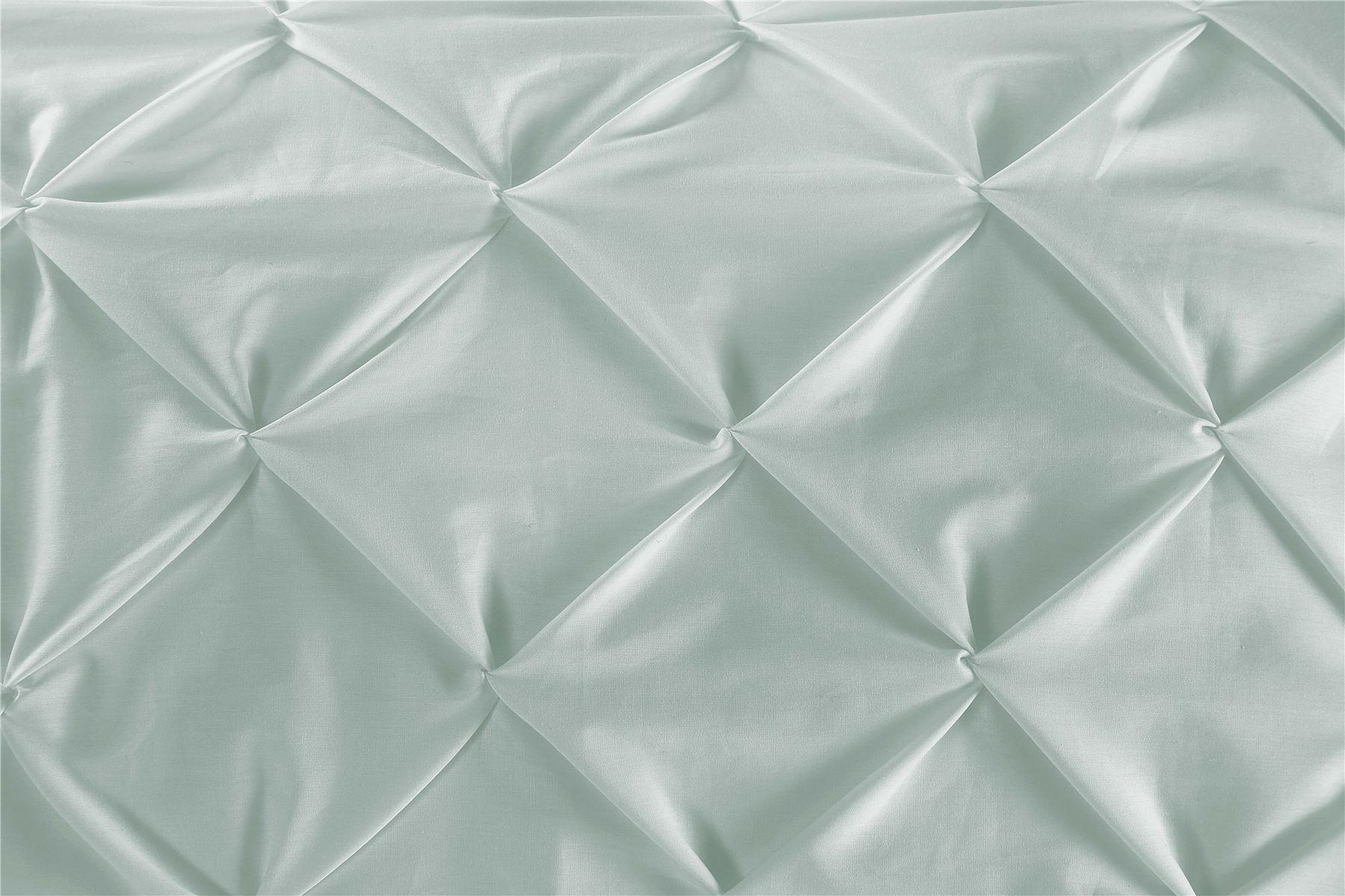 Luxury-Pure-100-Cotton-200-Thread-Pinch-Pleat-Pintuck-Puckering-Duvet-Cover-Set thumbnail 16