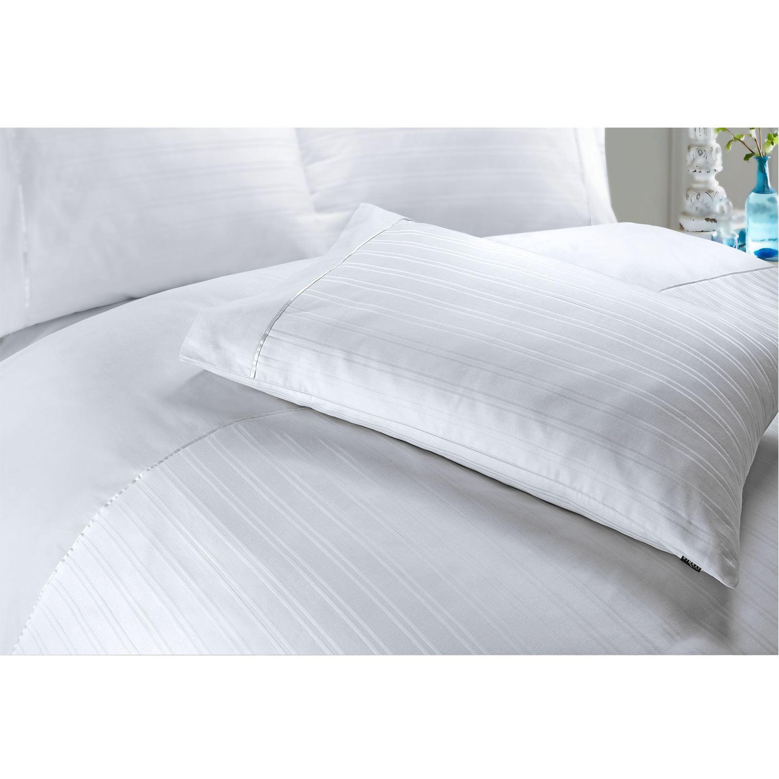 Hotel-Quality-400-Thread-100-Cotton-Satin-Sateen-Stripe-Duvet-Cover-Bedding-Set thumbnail 7