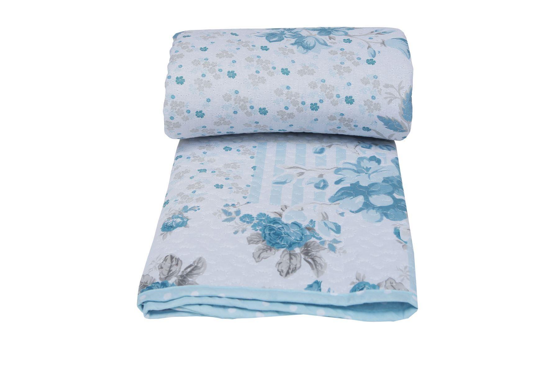 Nuevo-Floral-Rosa-Acolchado-Colcha-100-Algodon-Cobertor-Edredon-En-Relieve-Doble-King miniatura 8