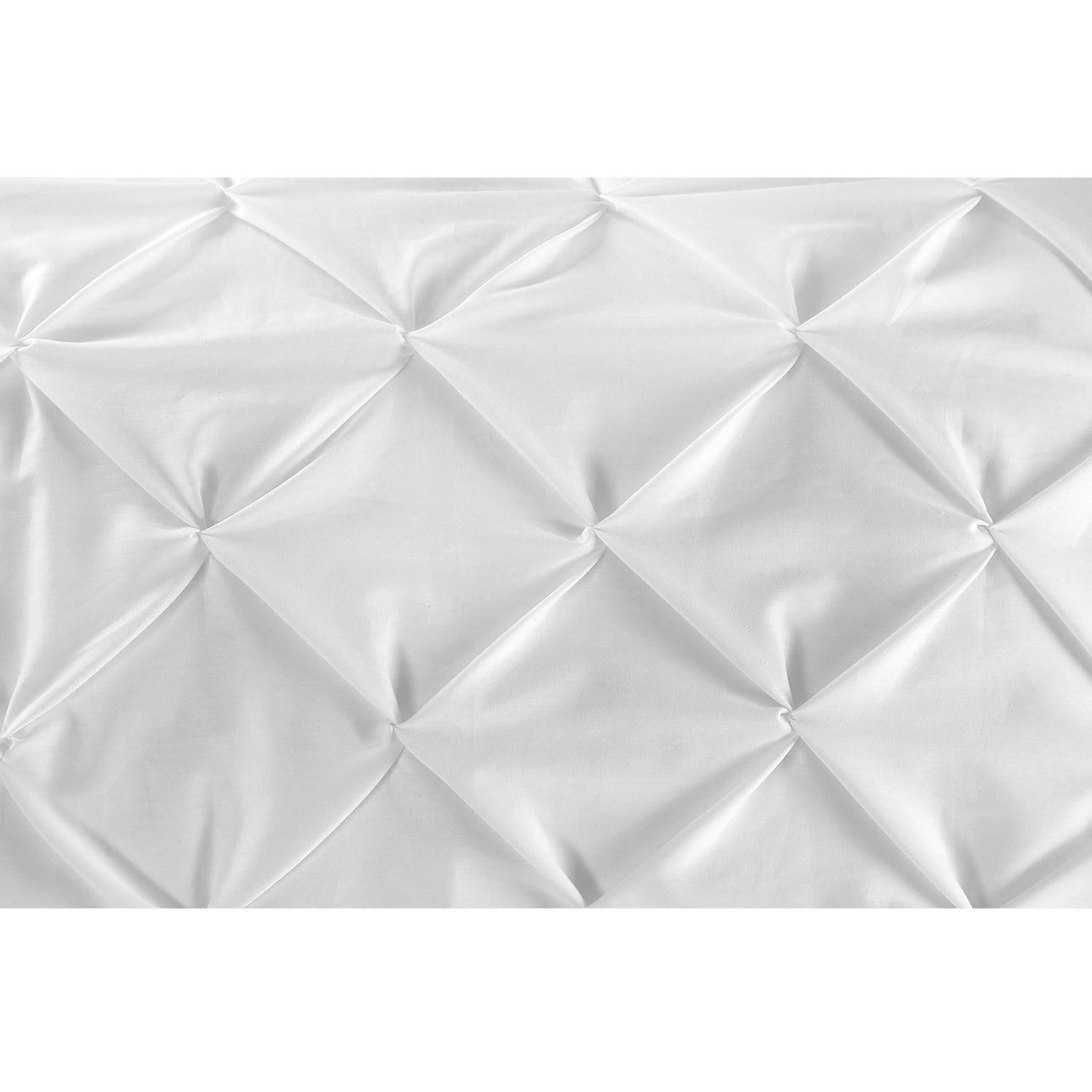 Luxury-Pure-100-Cotton-200-Thread-Pinch-Pleat-Pintuck-Puckering-Duvet-Cover-Set thumbnail 66
