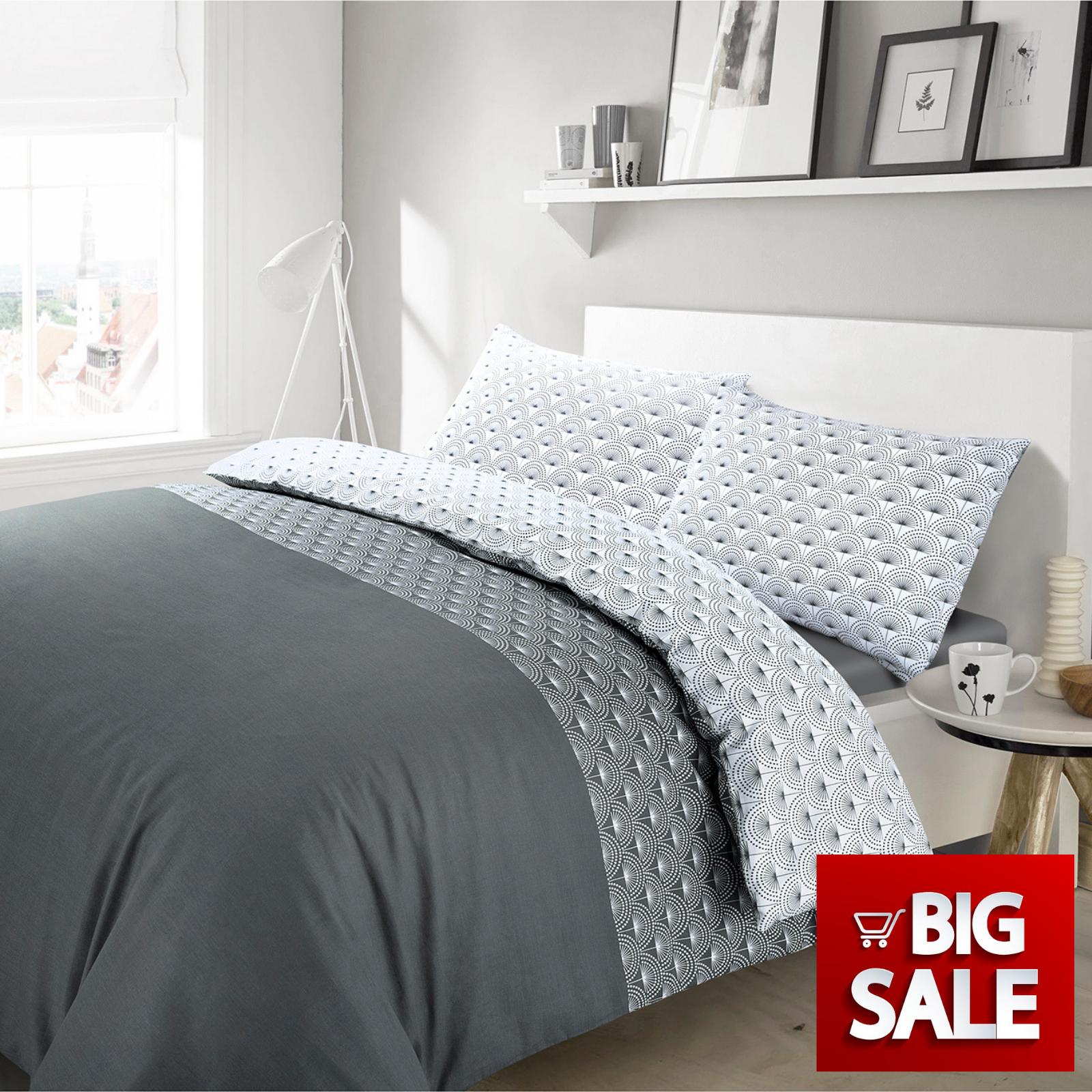 Floral Paloma Duvet Quilt Covers Bedding Sets Single Double Super King Size Grey Ebay