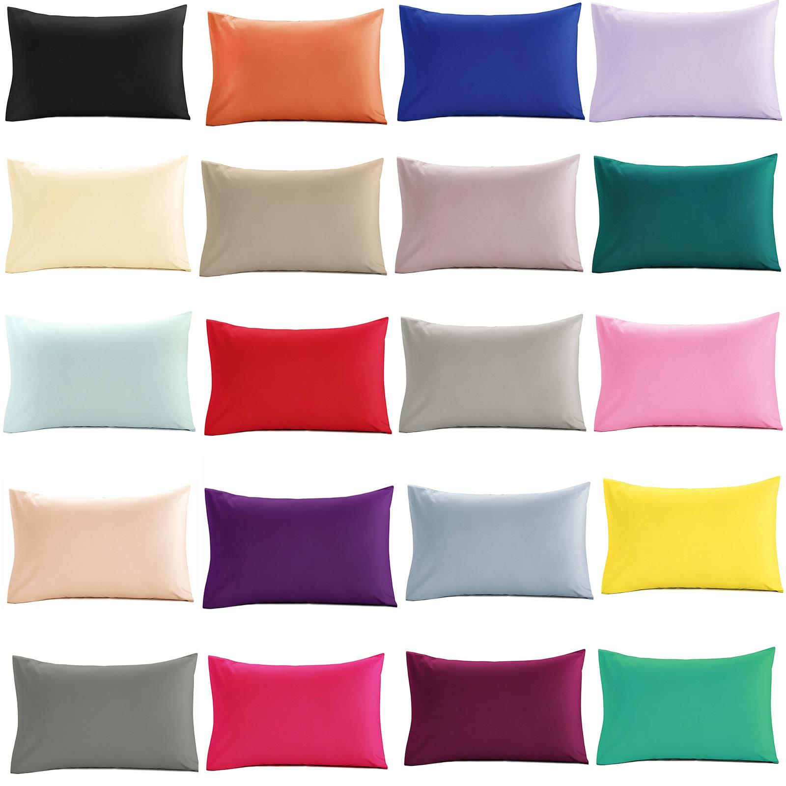 Pink Plain Dyed Polycoton Soft Flat Bed Sheet With Free Pair Of Pillow Cases New