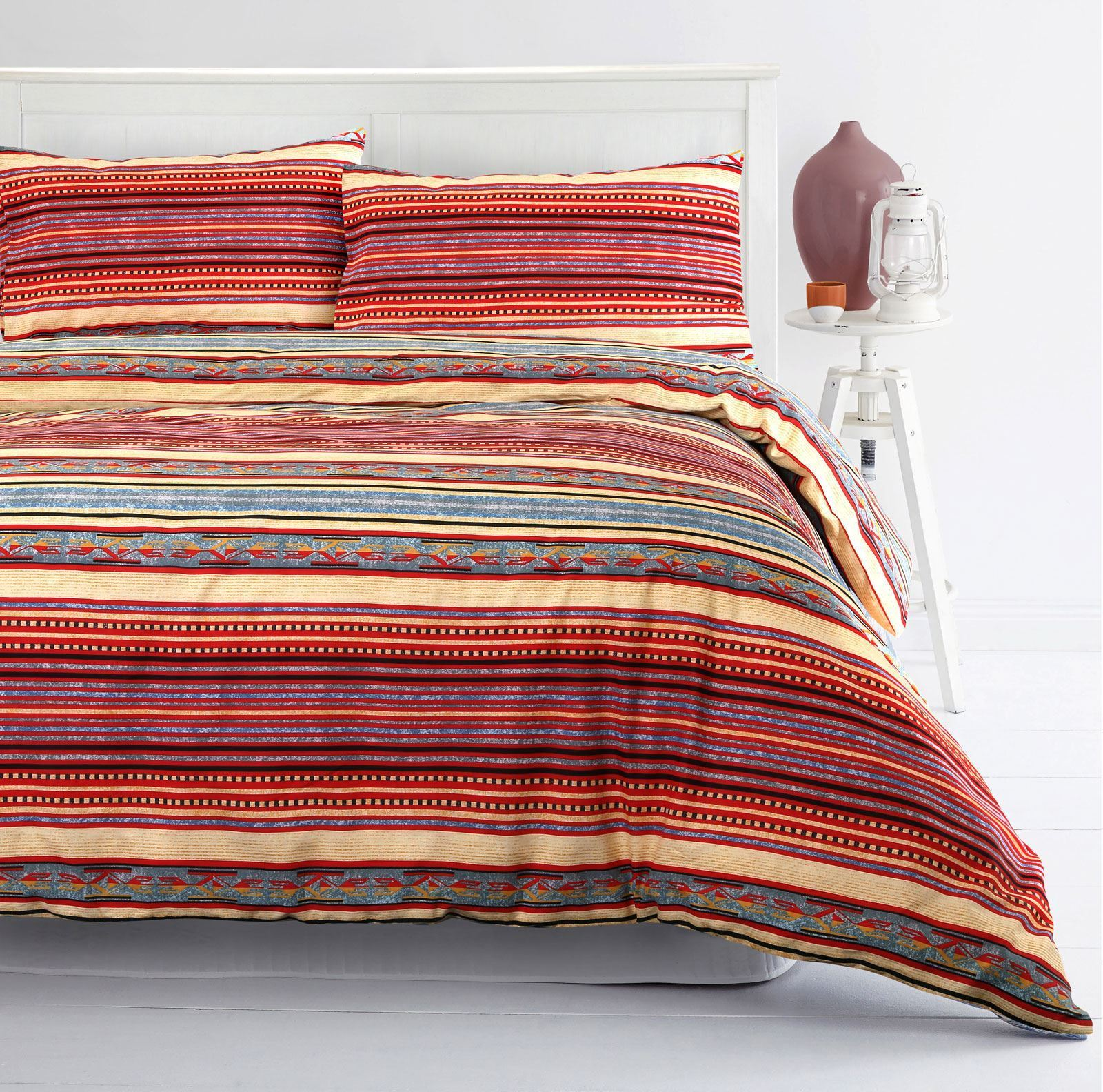 Moroccan Duvet Cover Set 100 Cotton Boho Ethnic Bedding Single Double King Size Ebay