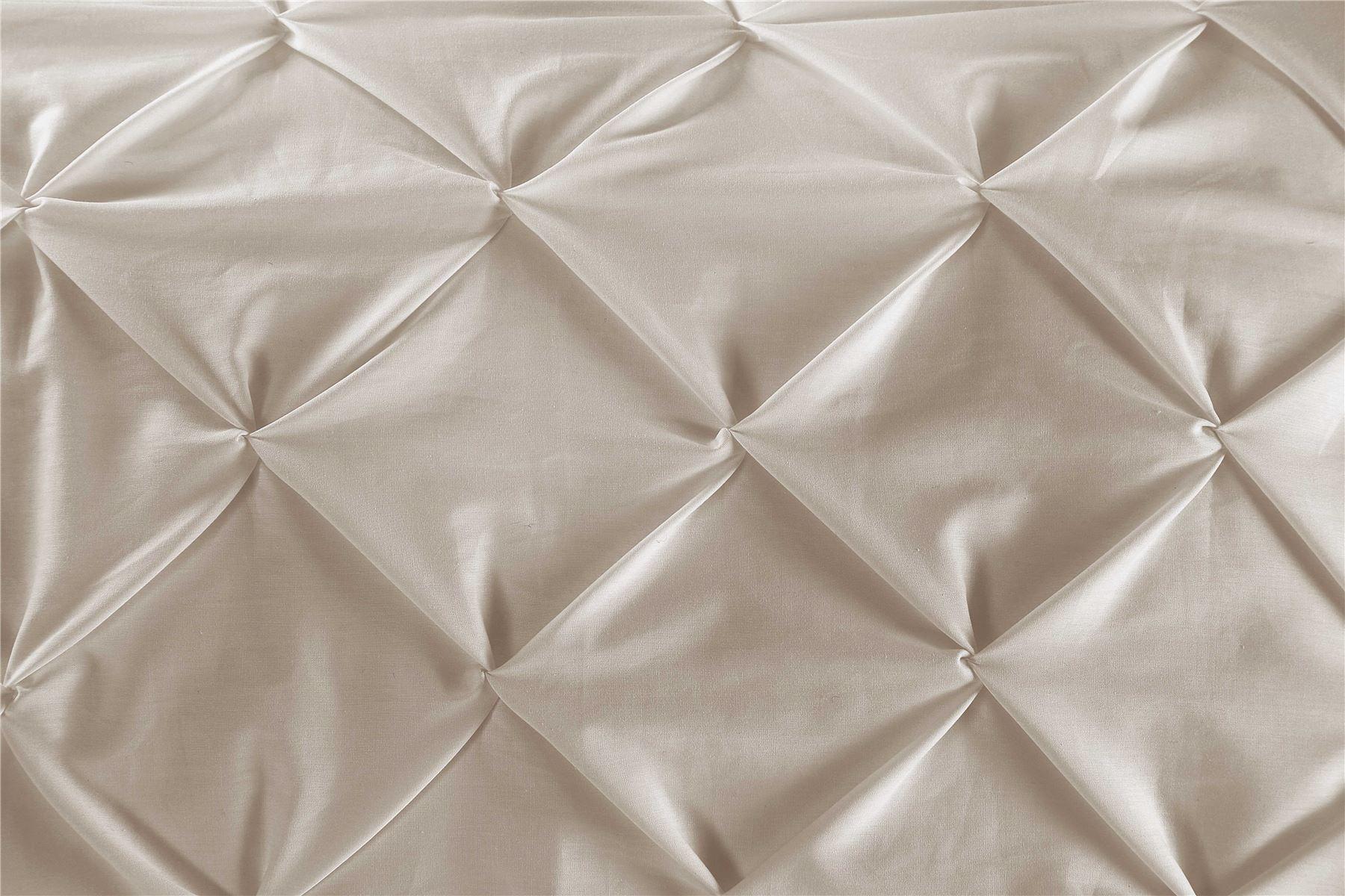 Luxury-Pure-100-Cotton-200-Thread-Pinch-Pleat-Pintuck-Puckering-Duvet-Cover-Set thumbnail 56