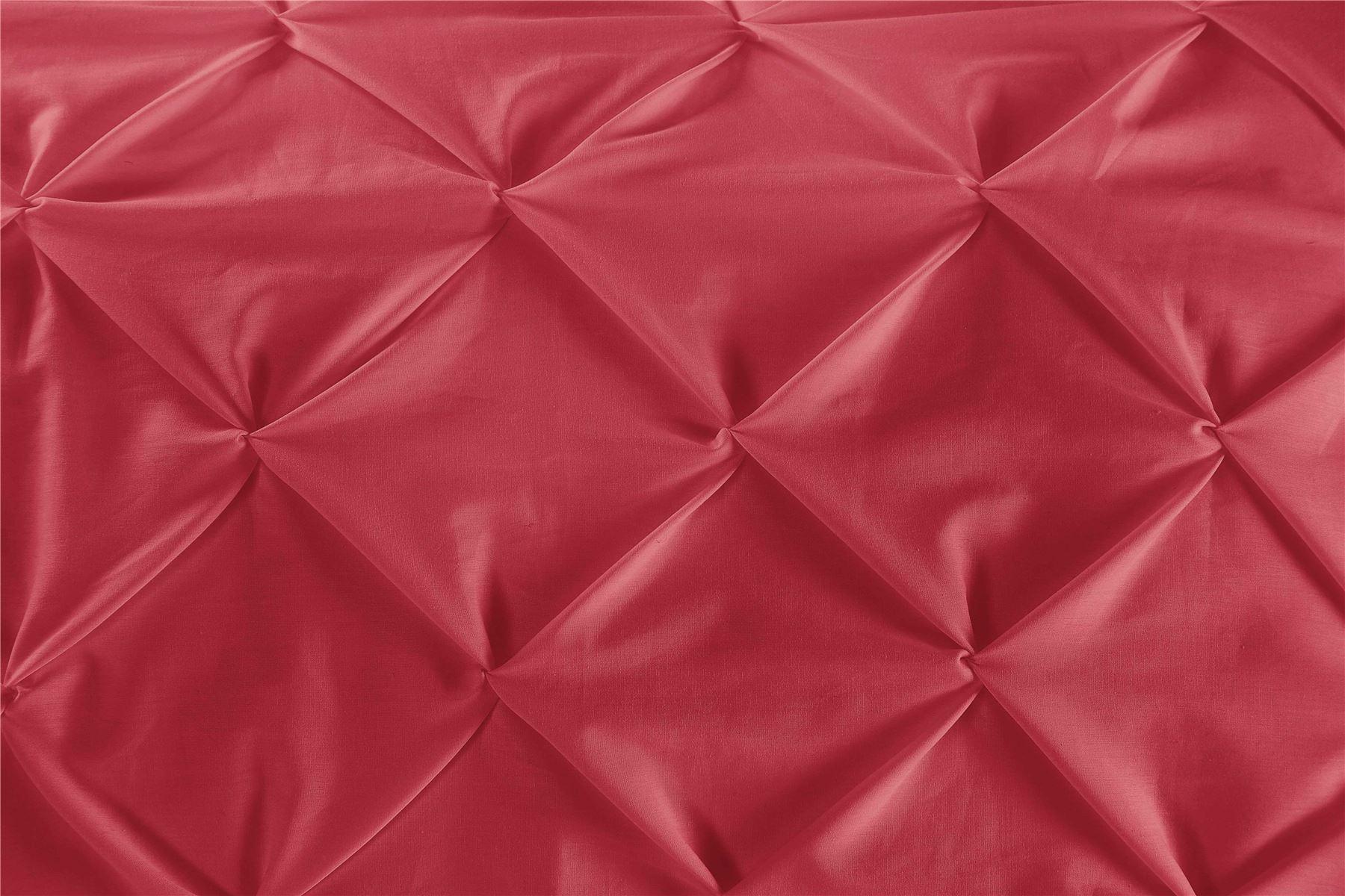 Luxury-Pure-100-Cotton-200-Thread-Pinch-Pleat-Pintuck-Puckering-Duvet-Cover-Set thumbnail 41